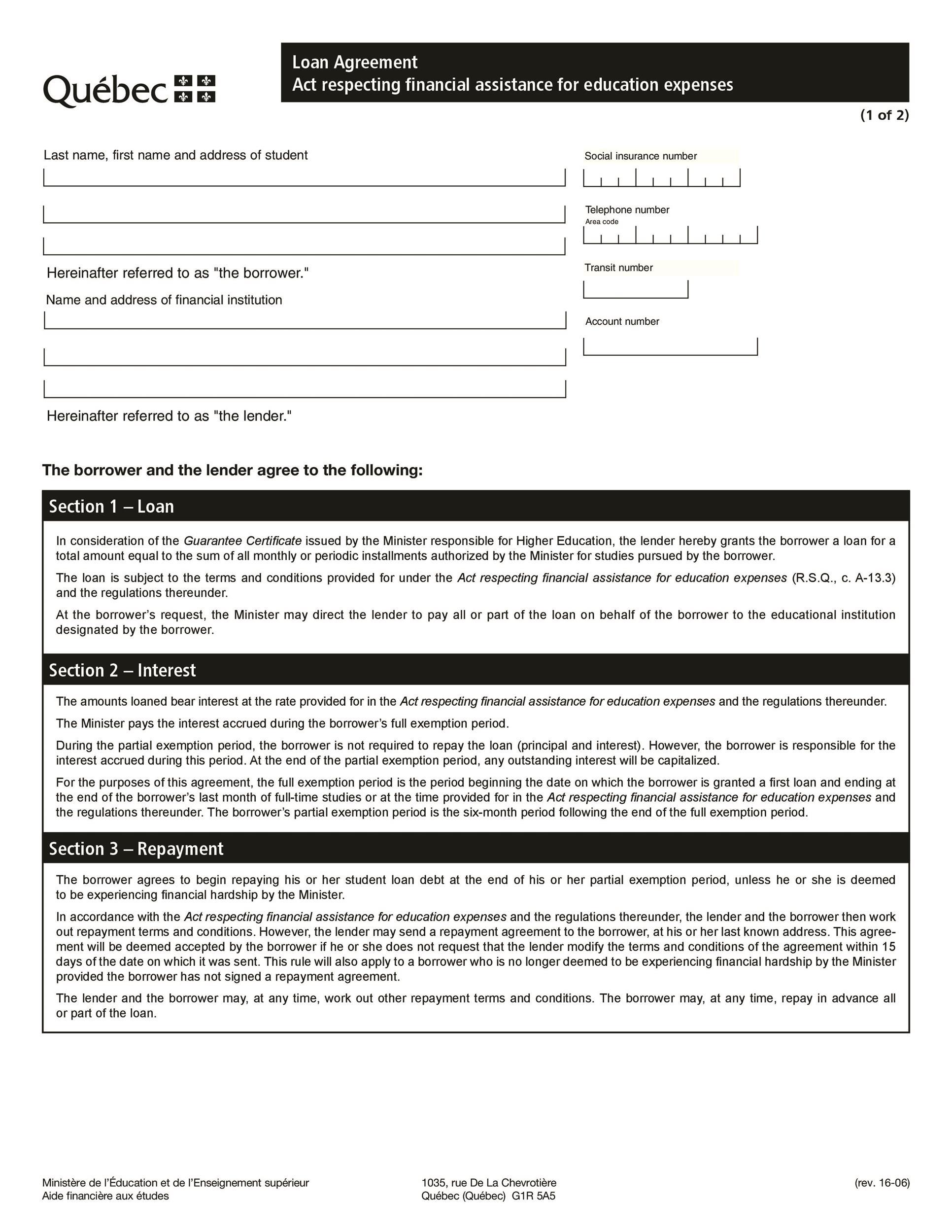 Free loan agreement template 42