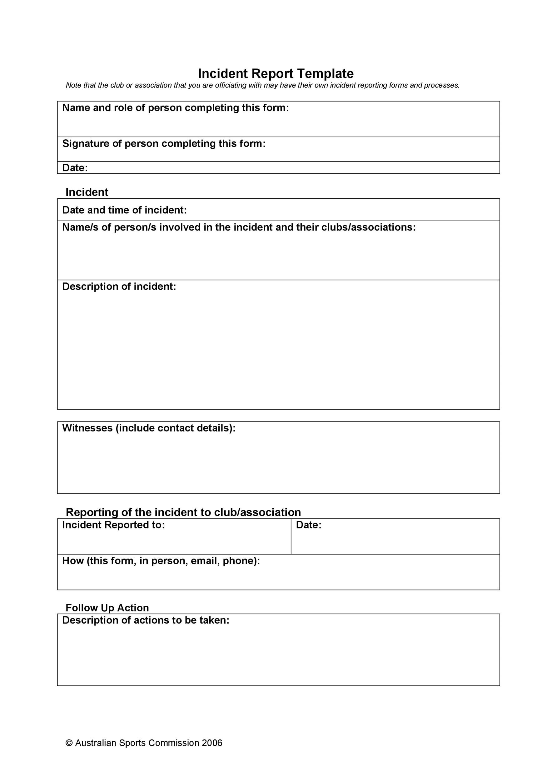 Free police report template 13