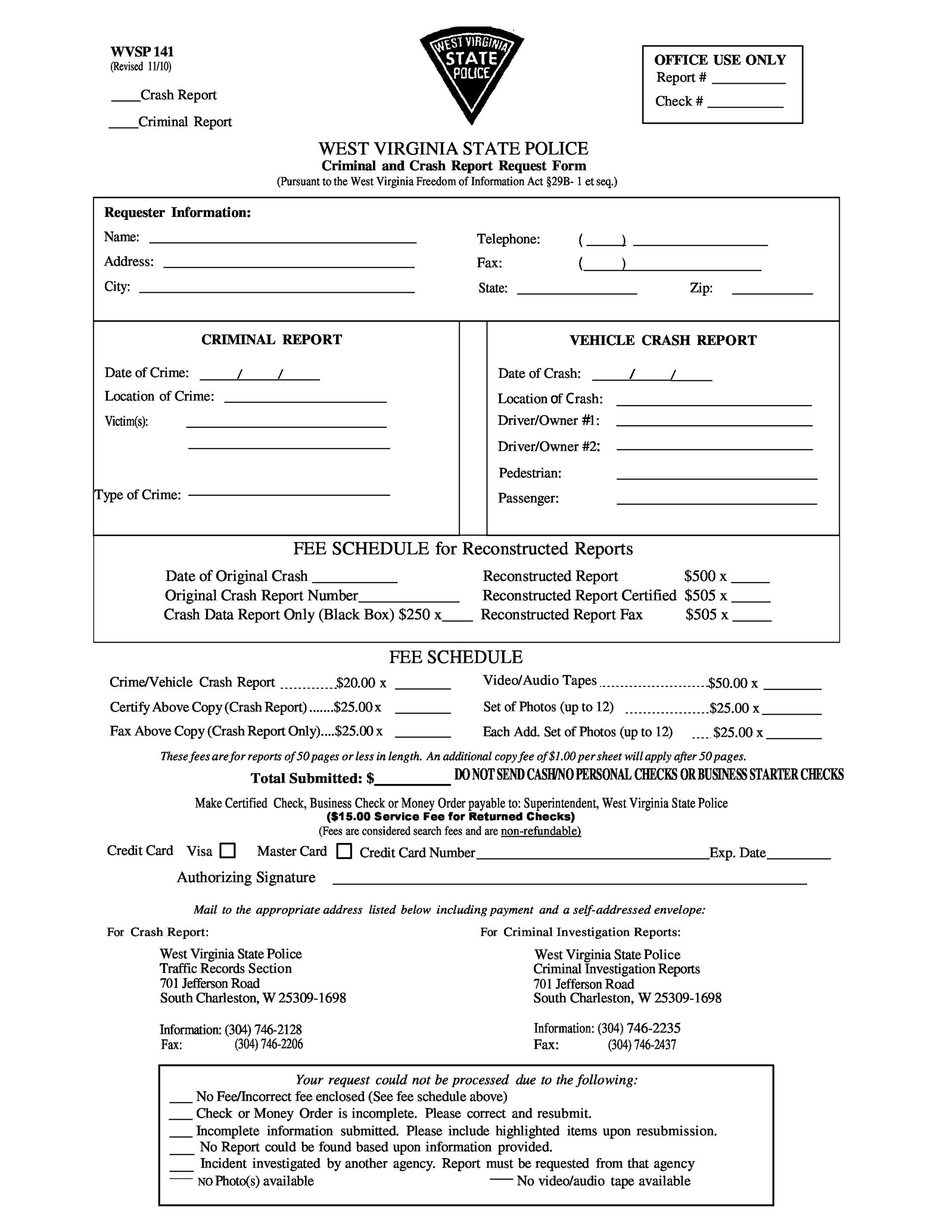 Free police report template 14