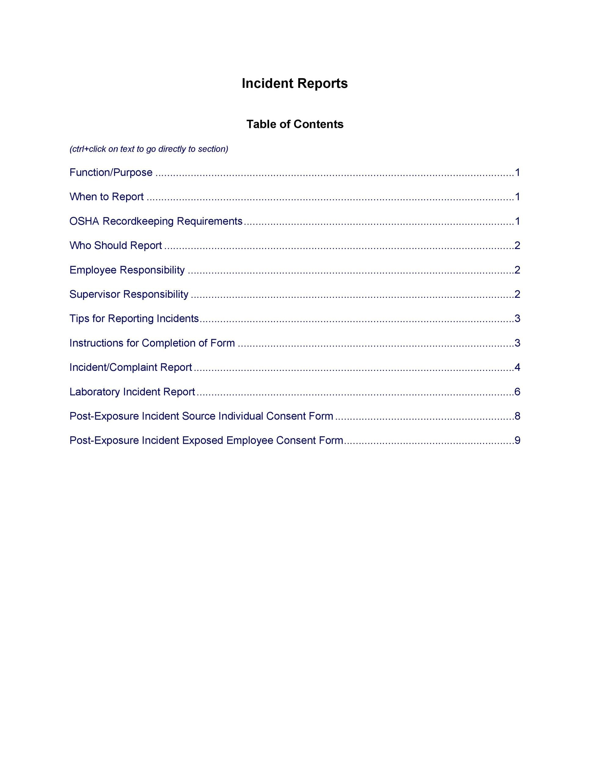 Free police report template 19