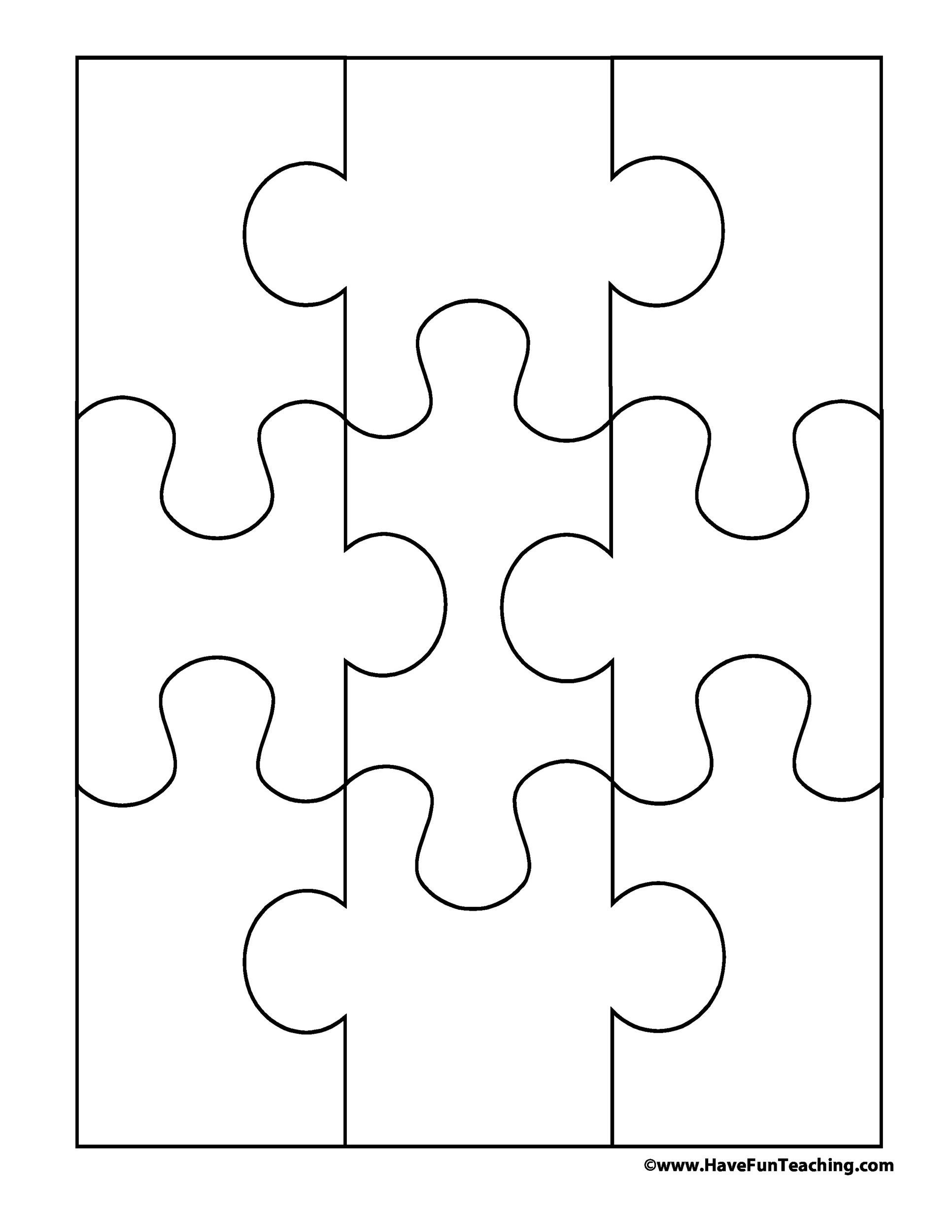 puzzle cut out template - 19 printable puzzle piece templates template lab