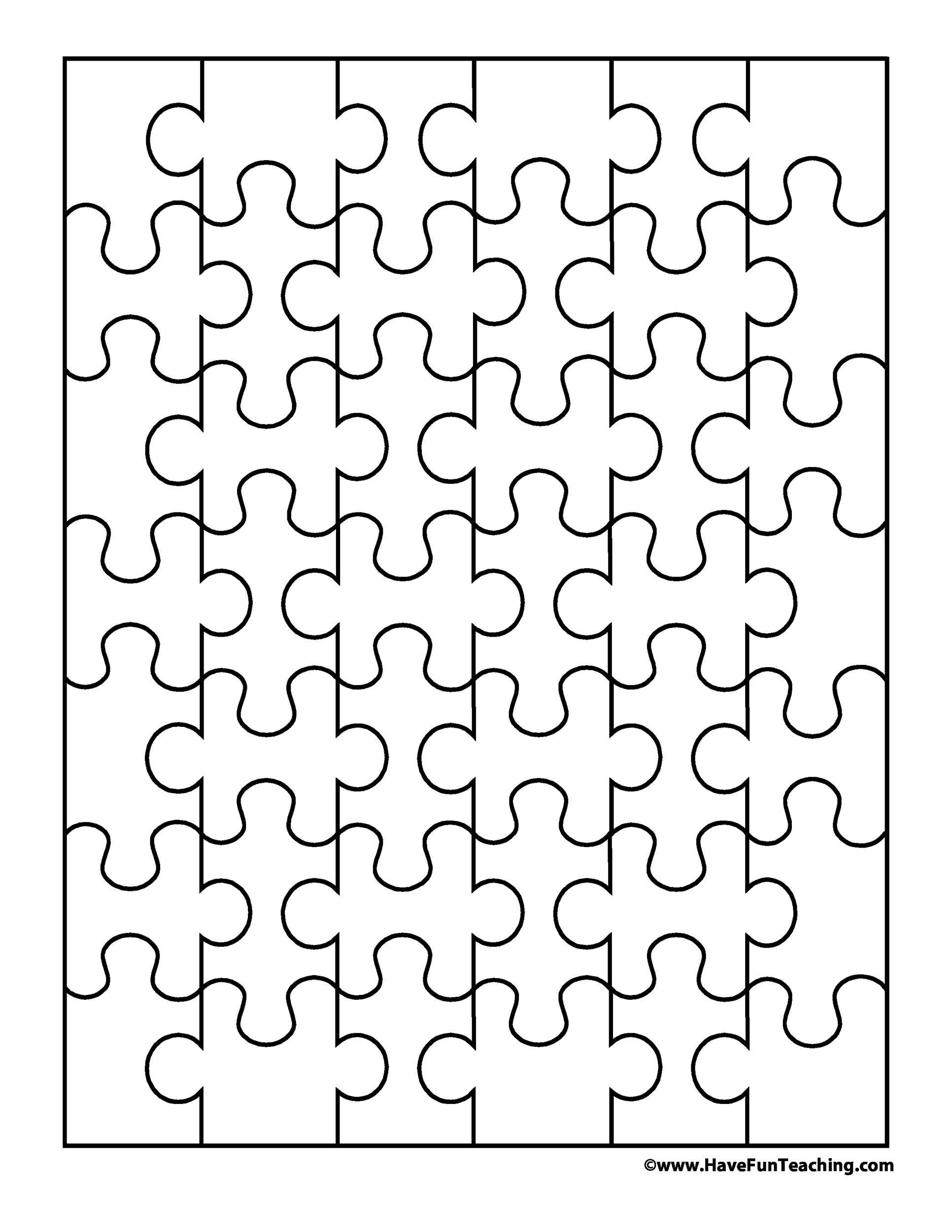 Free Puzzle Piece Template 02 Printable