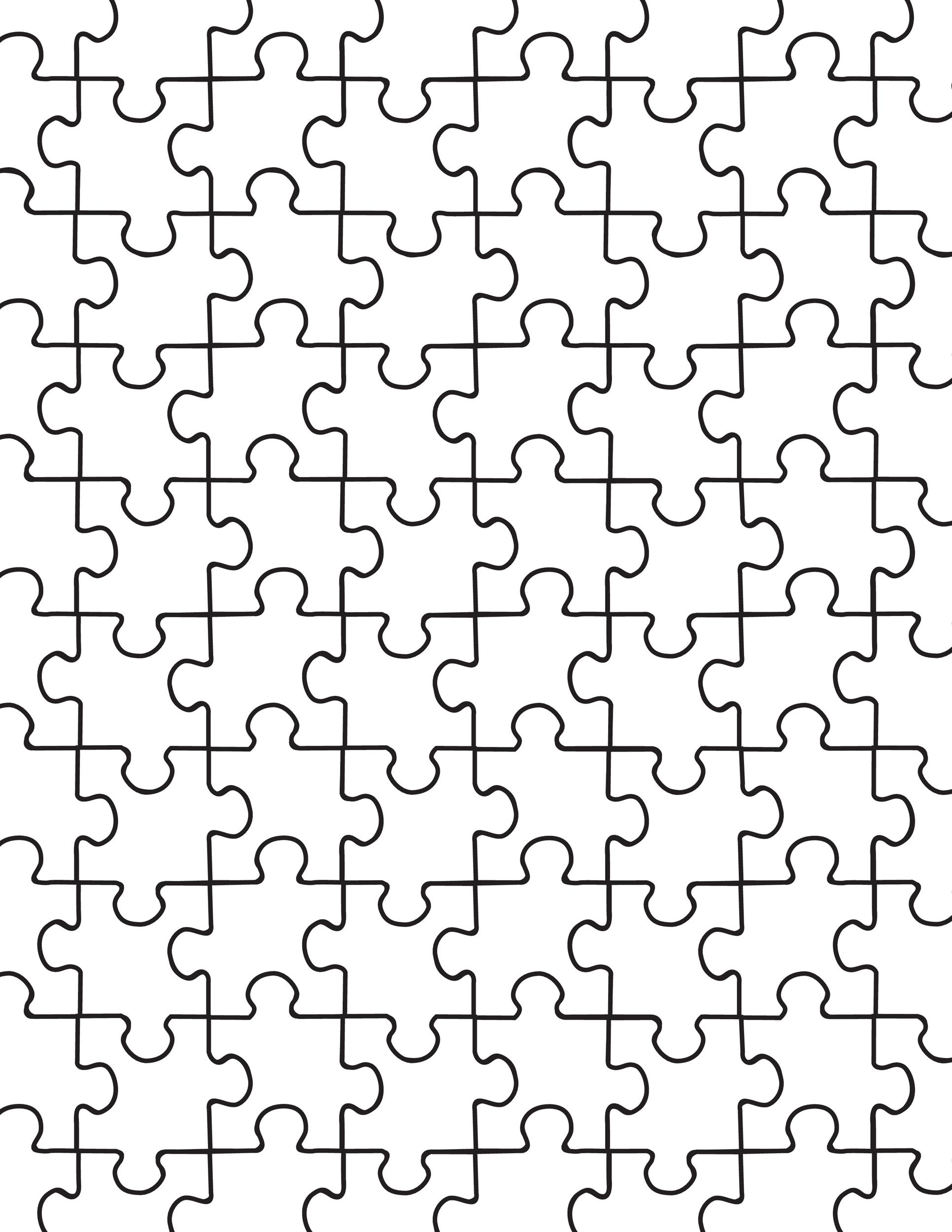 Free puzzle piece template 04