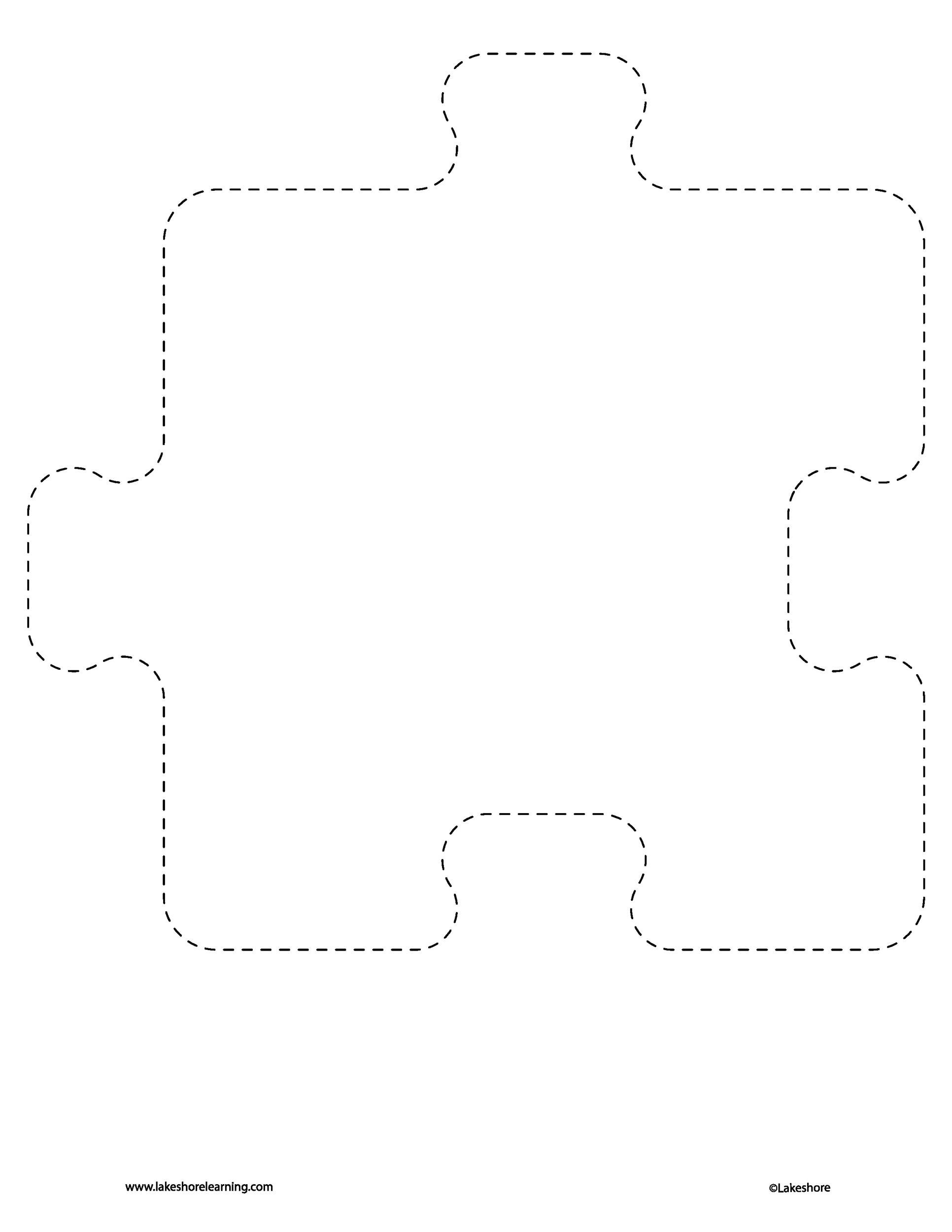 Free puzzle piece template 07