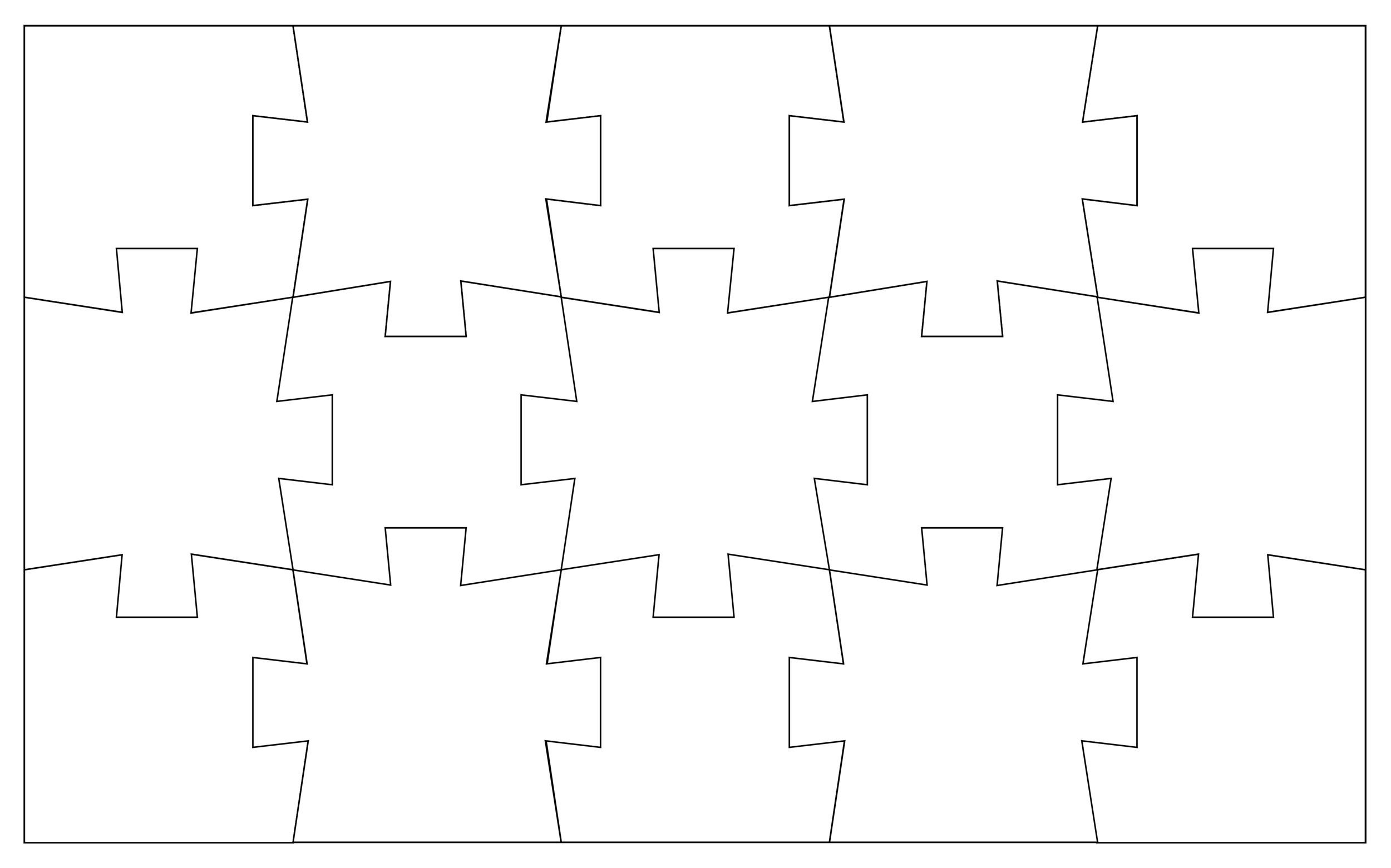 Free puzzle piece template 08