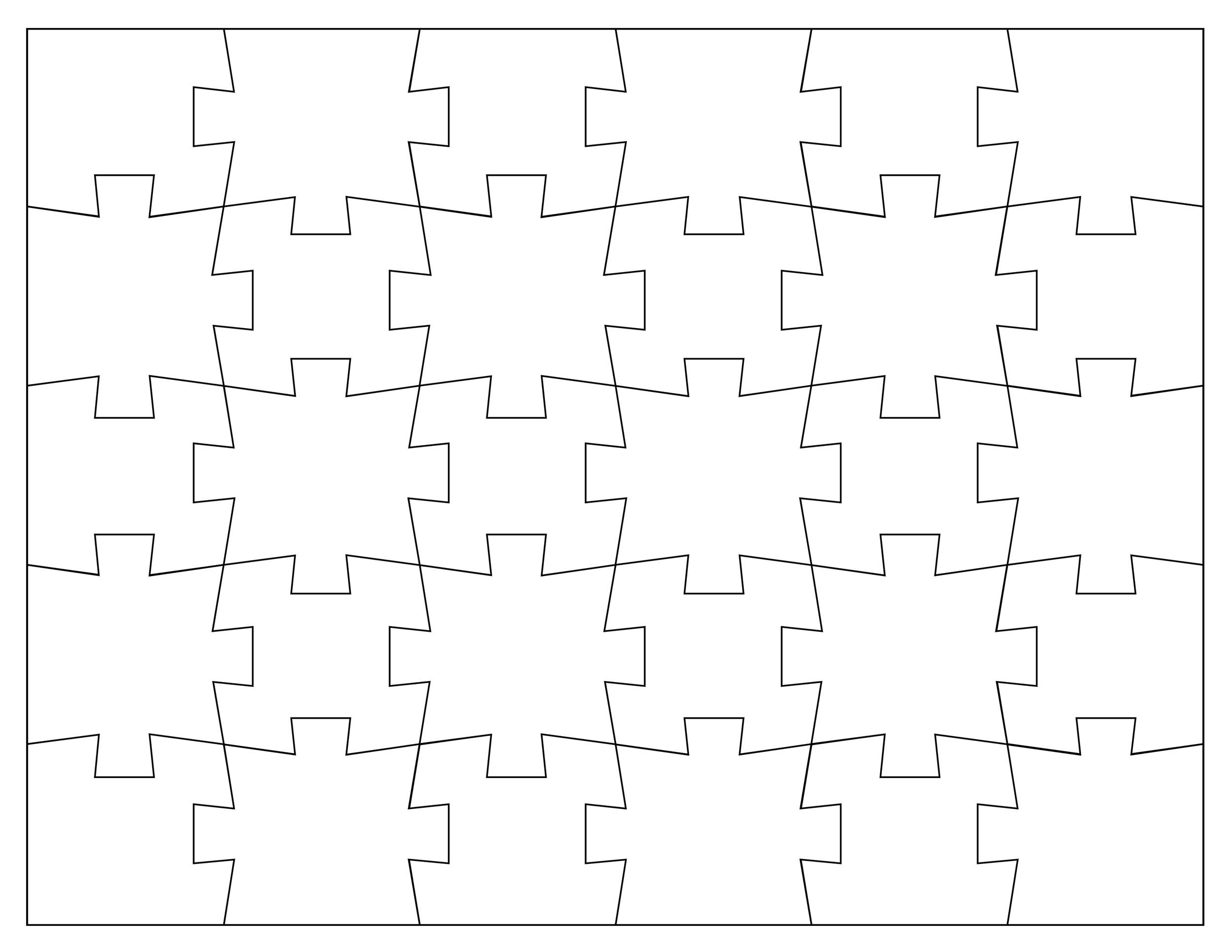 Free puzzle piece template 09