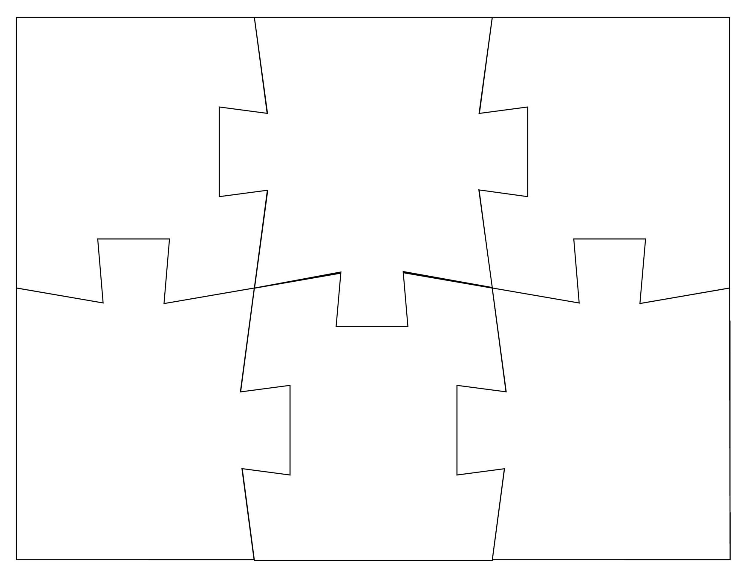 Free puzzle piece template 10