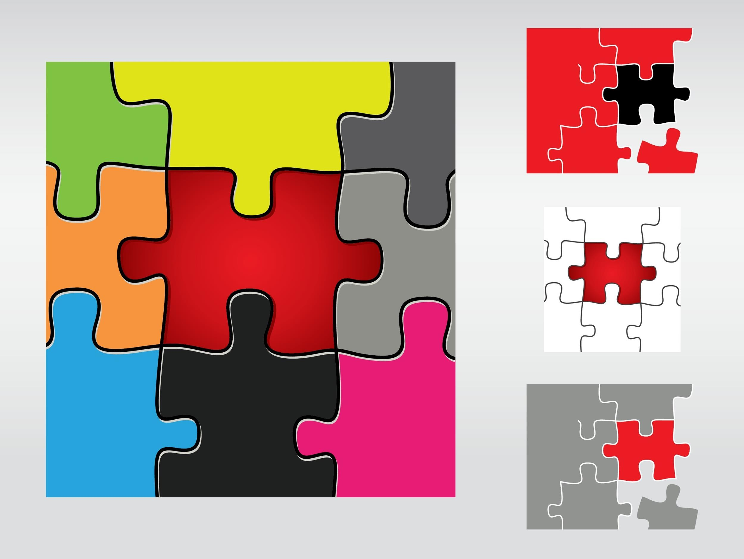 Free puzzle piece template 14