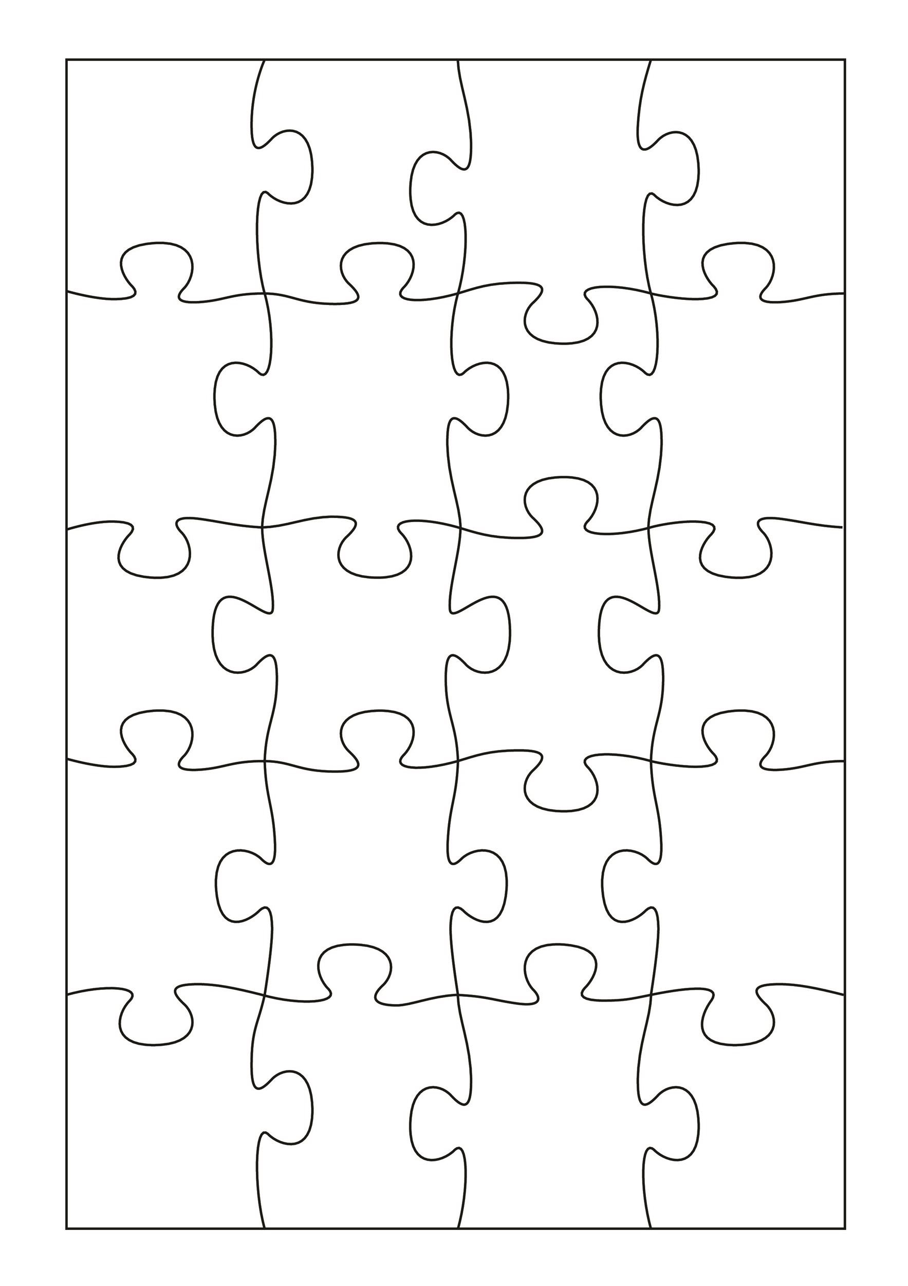 photograph regarding Printable Blank Puzzle identified as 19 Printable Puzzle Piece Templates ᐅ Template Lab