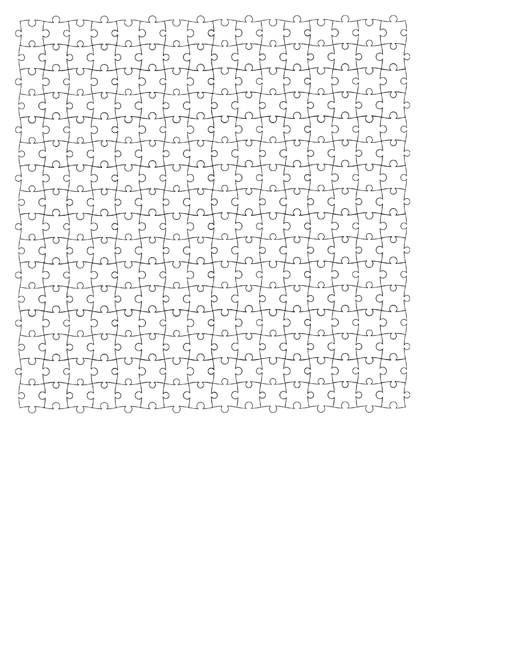Free puzzle piece template 18