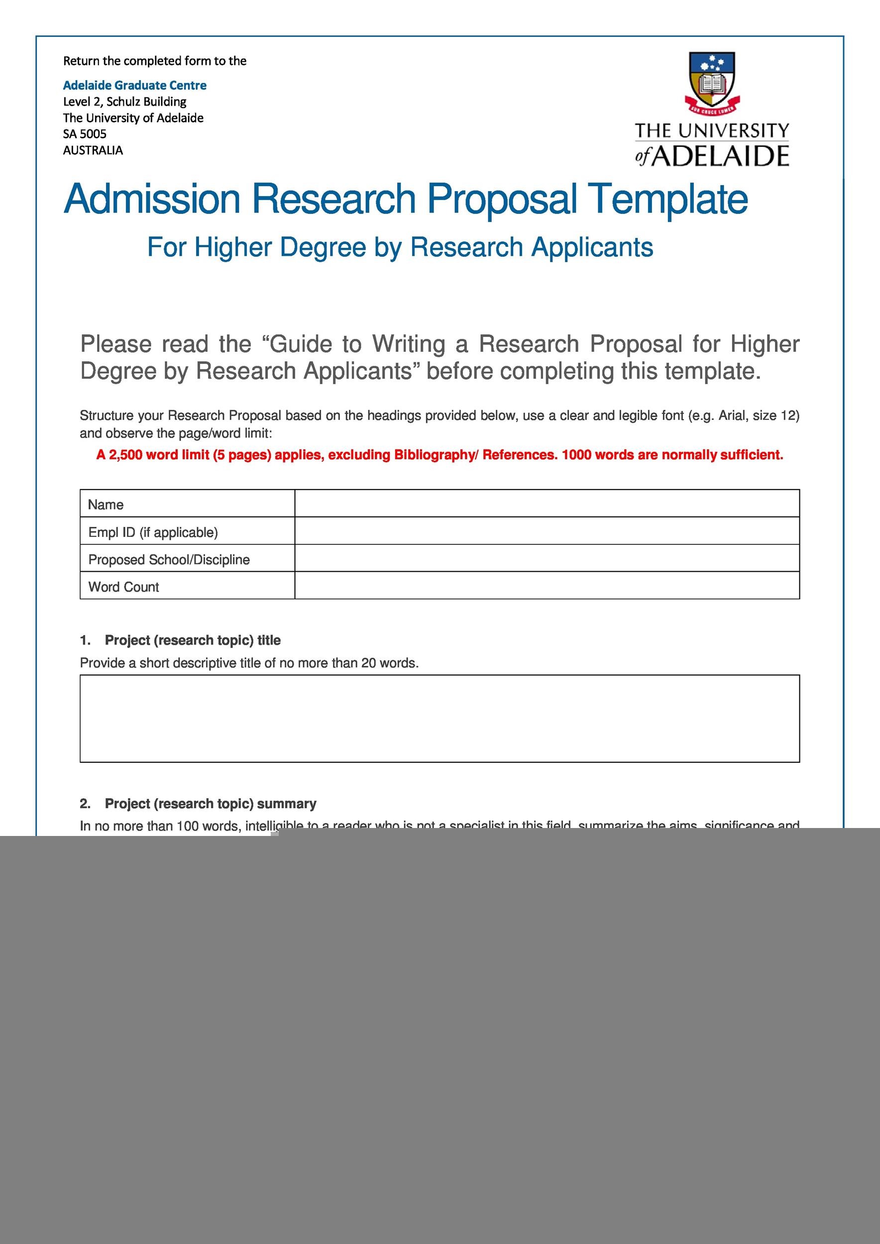 Free Research Proposal Template 04