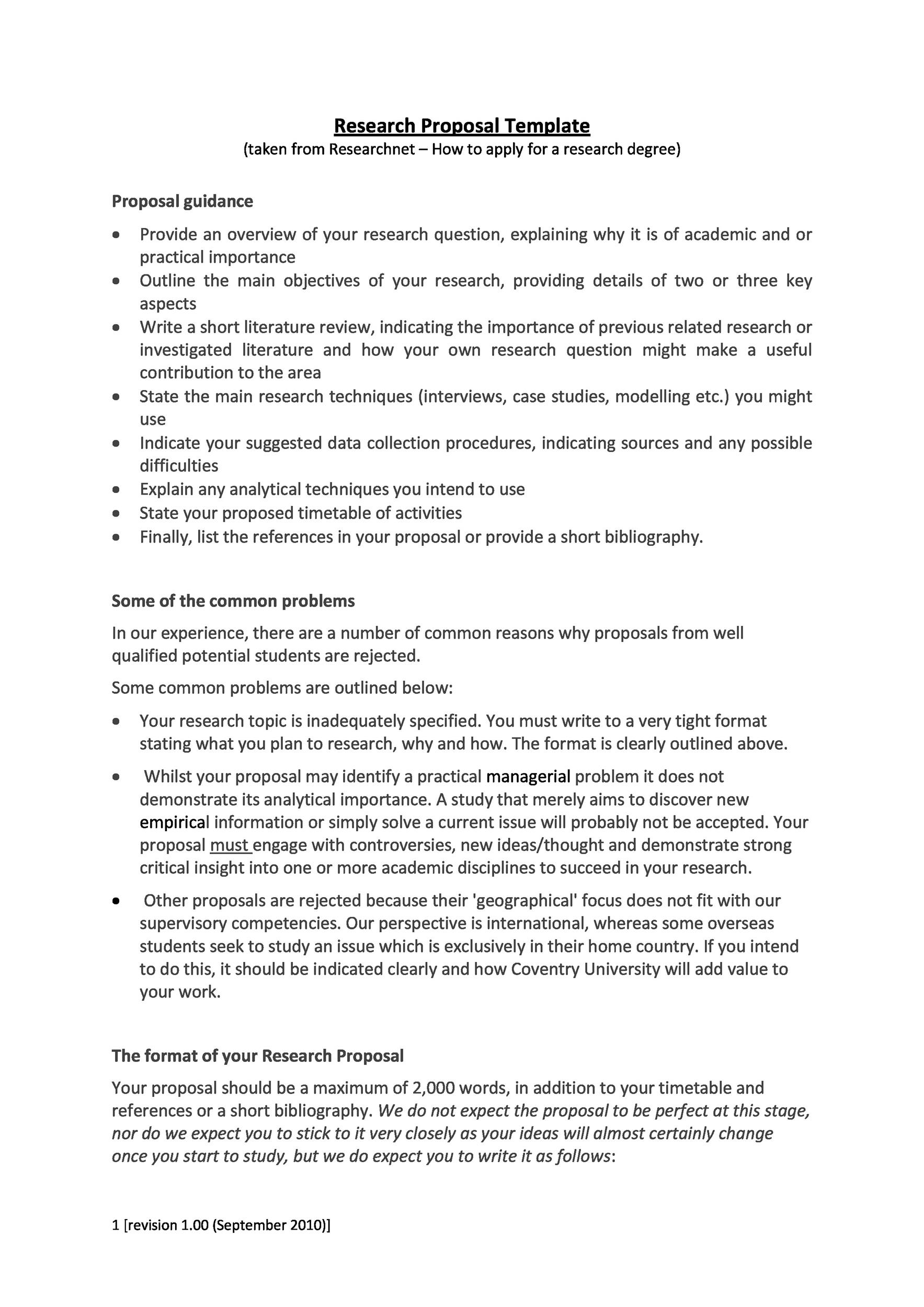 Superior Printable Research Proposal Template 06