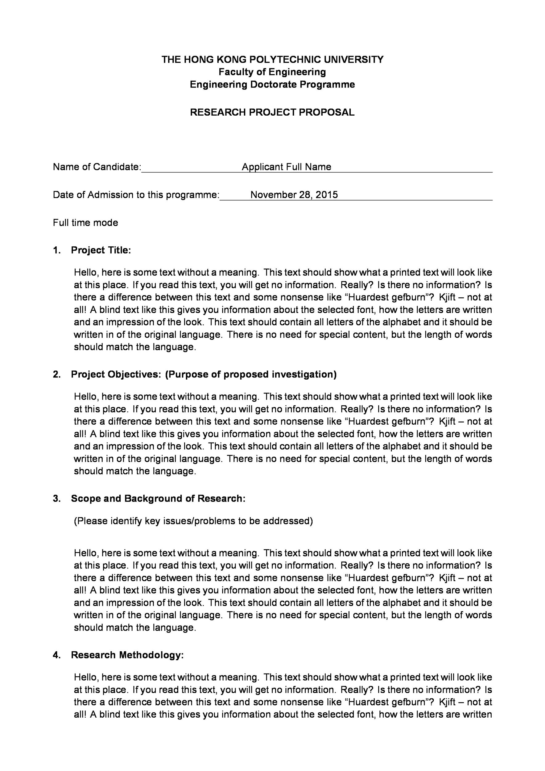 Free Research Proposal Template 14