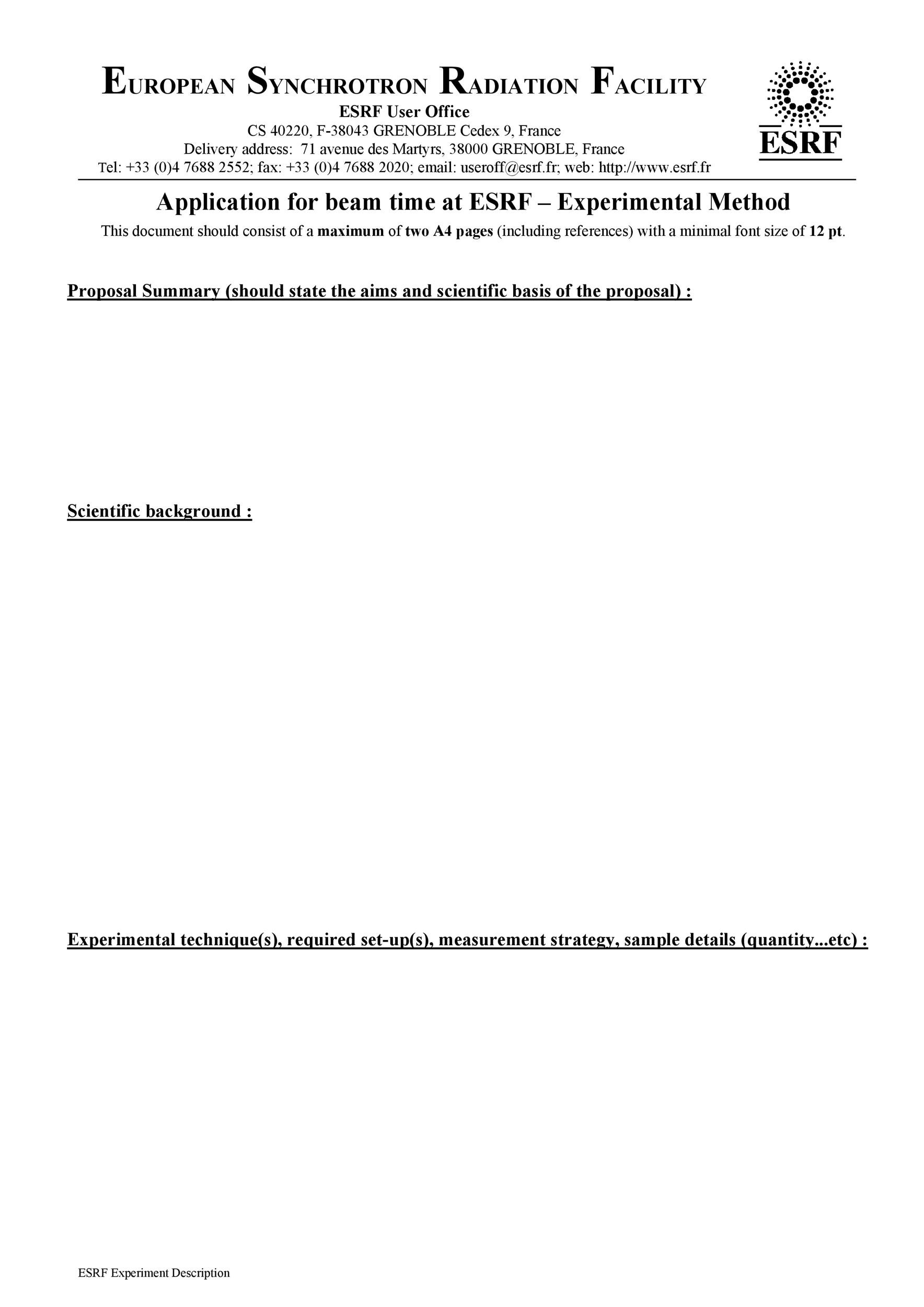 Free Research Proposal Template 15