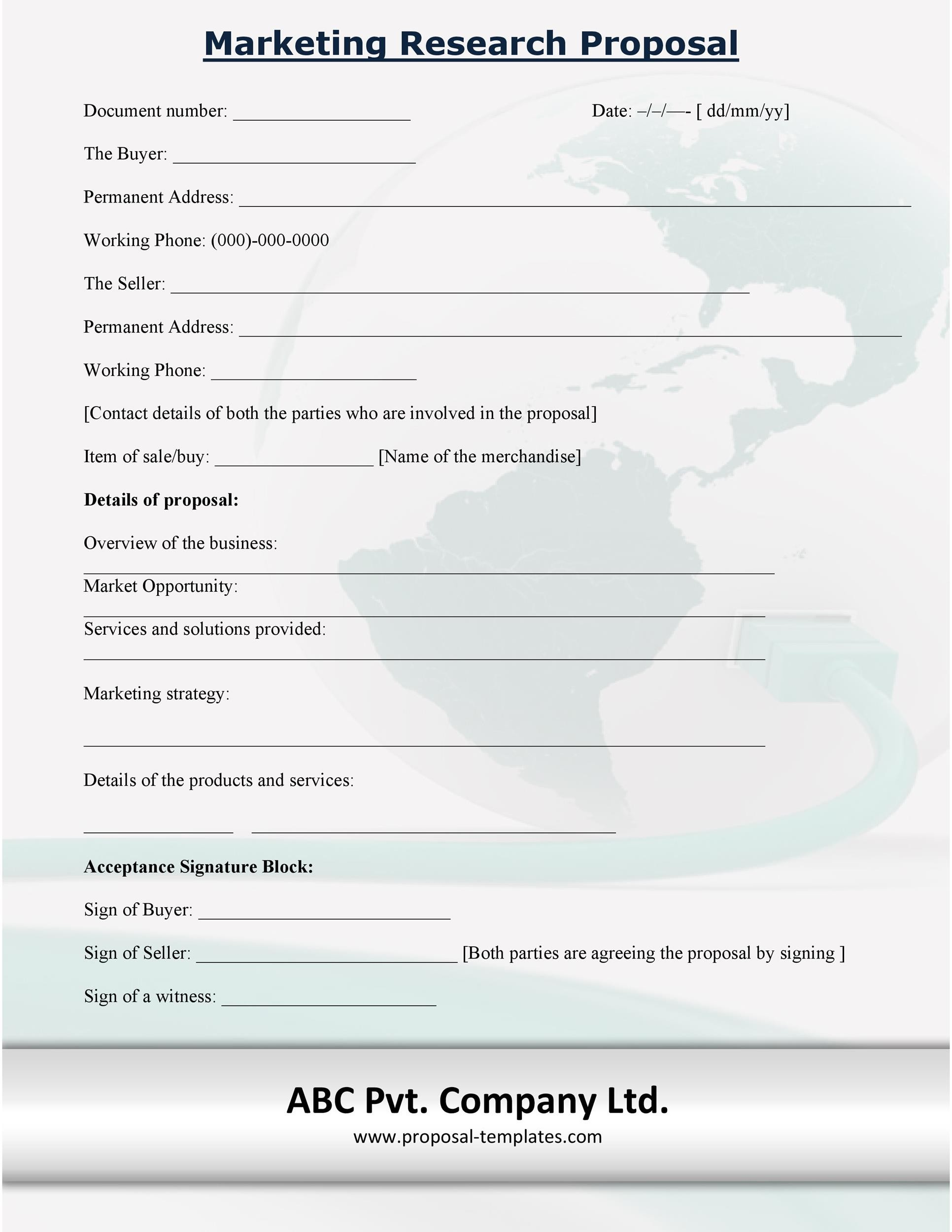 Free Research Proposal Template 16