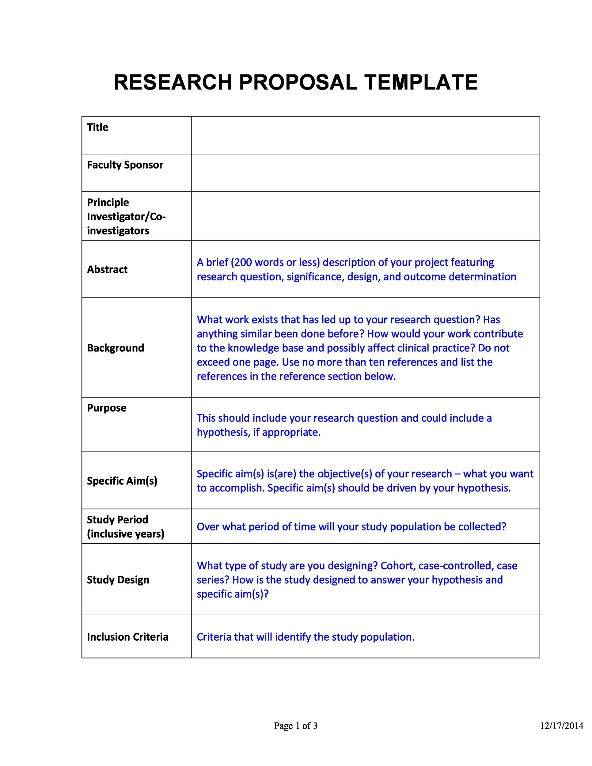 Free Research Proposal Template 18