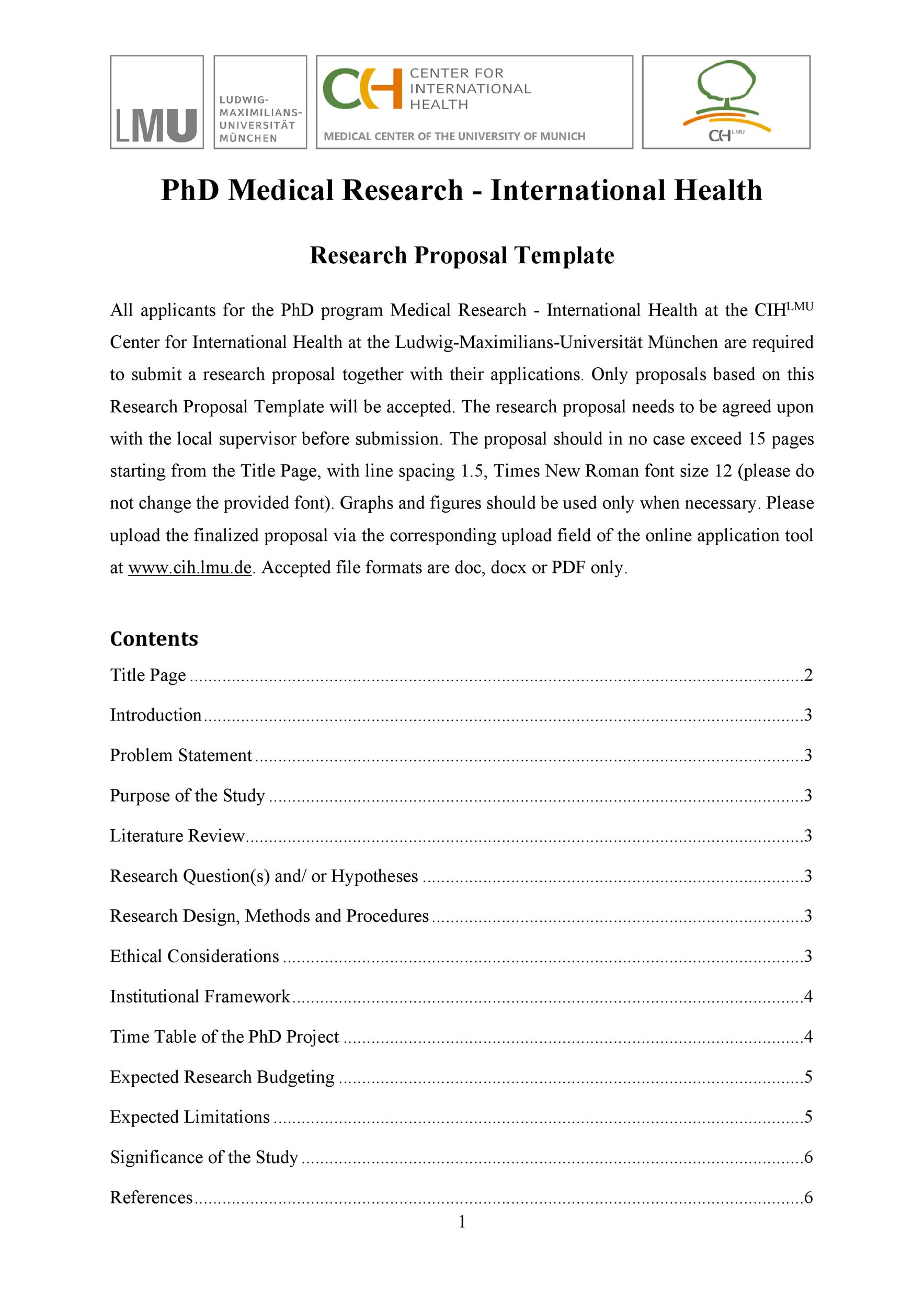 Free Research Proposal Template 19