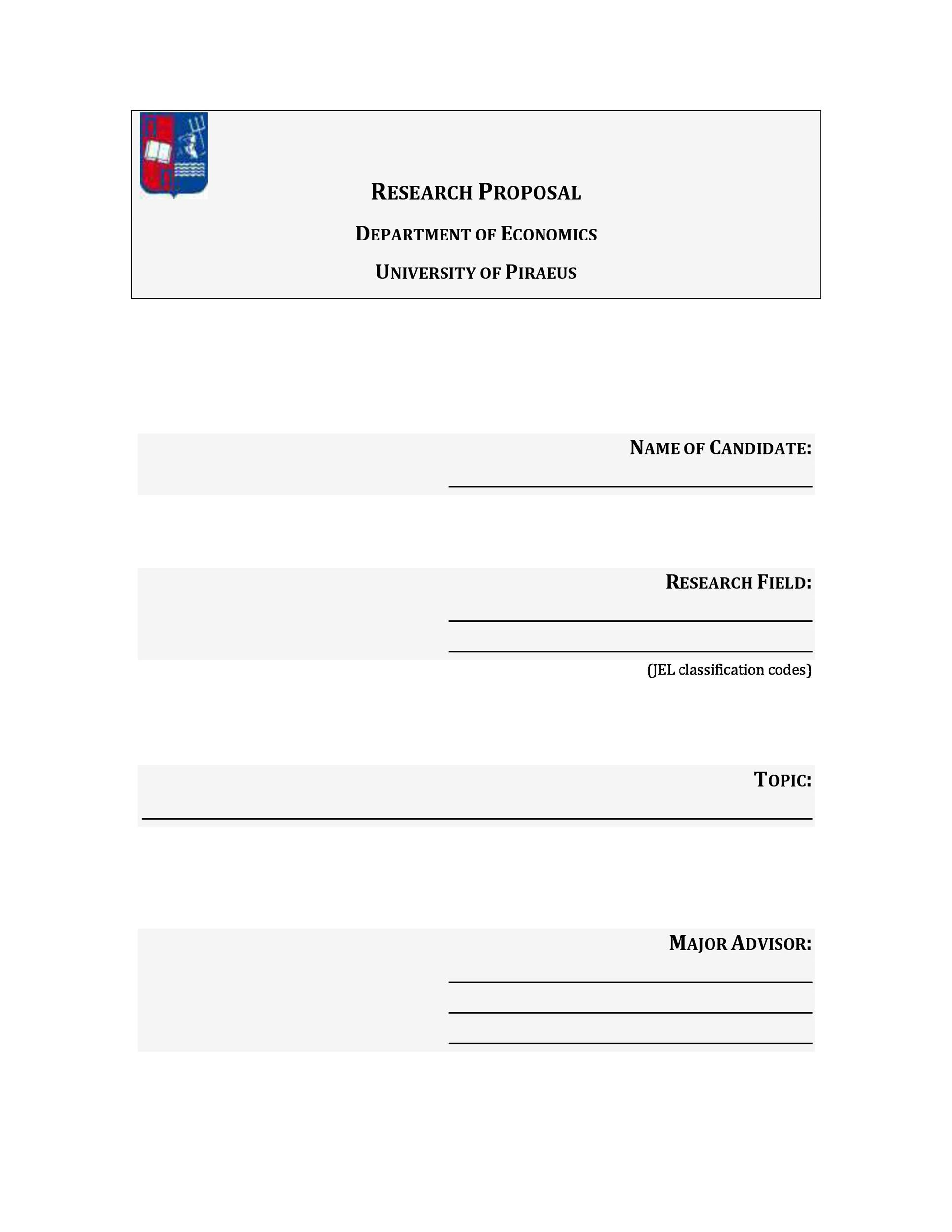 Free Research Proposal Template 21