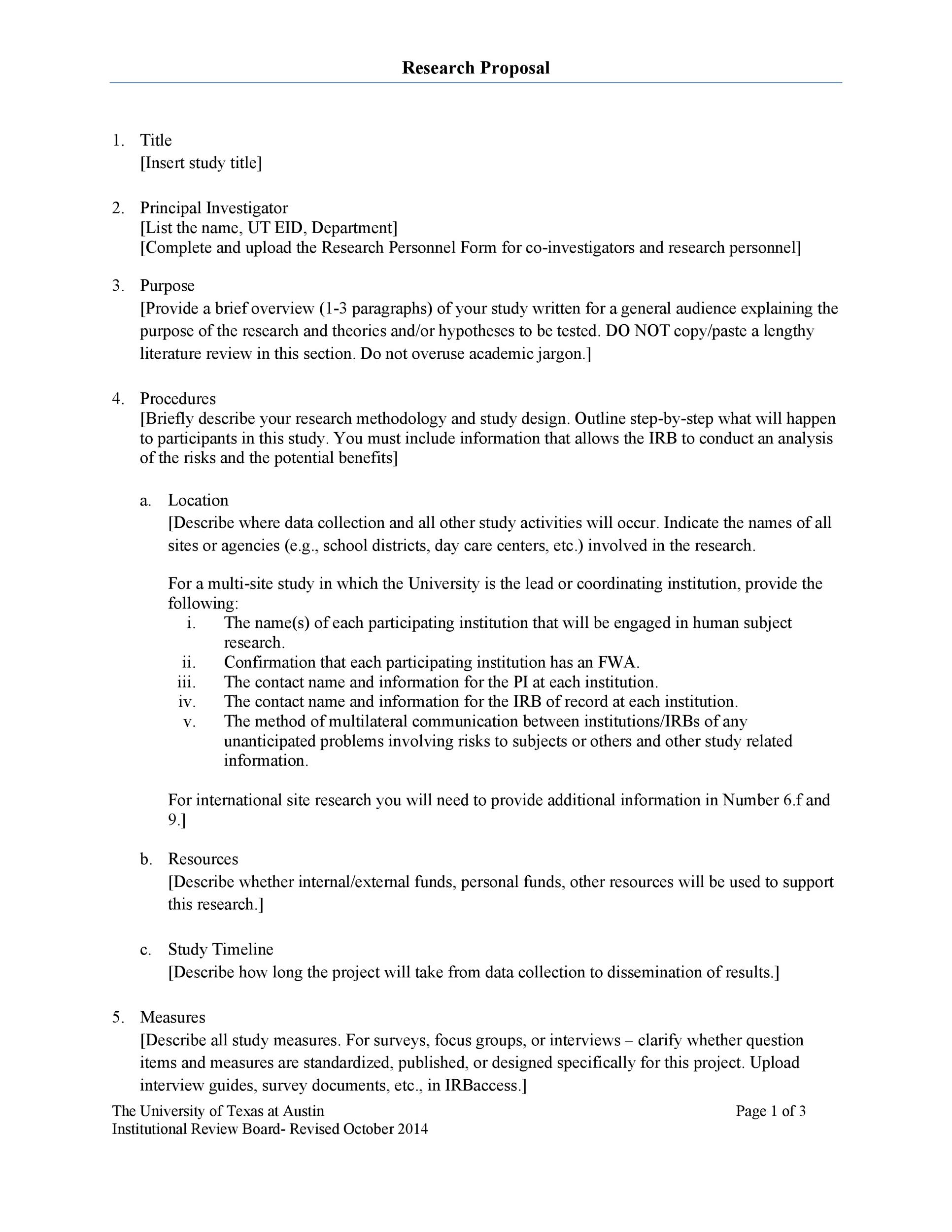 Free Research Proposal Template 32