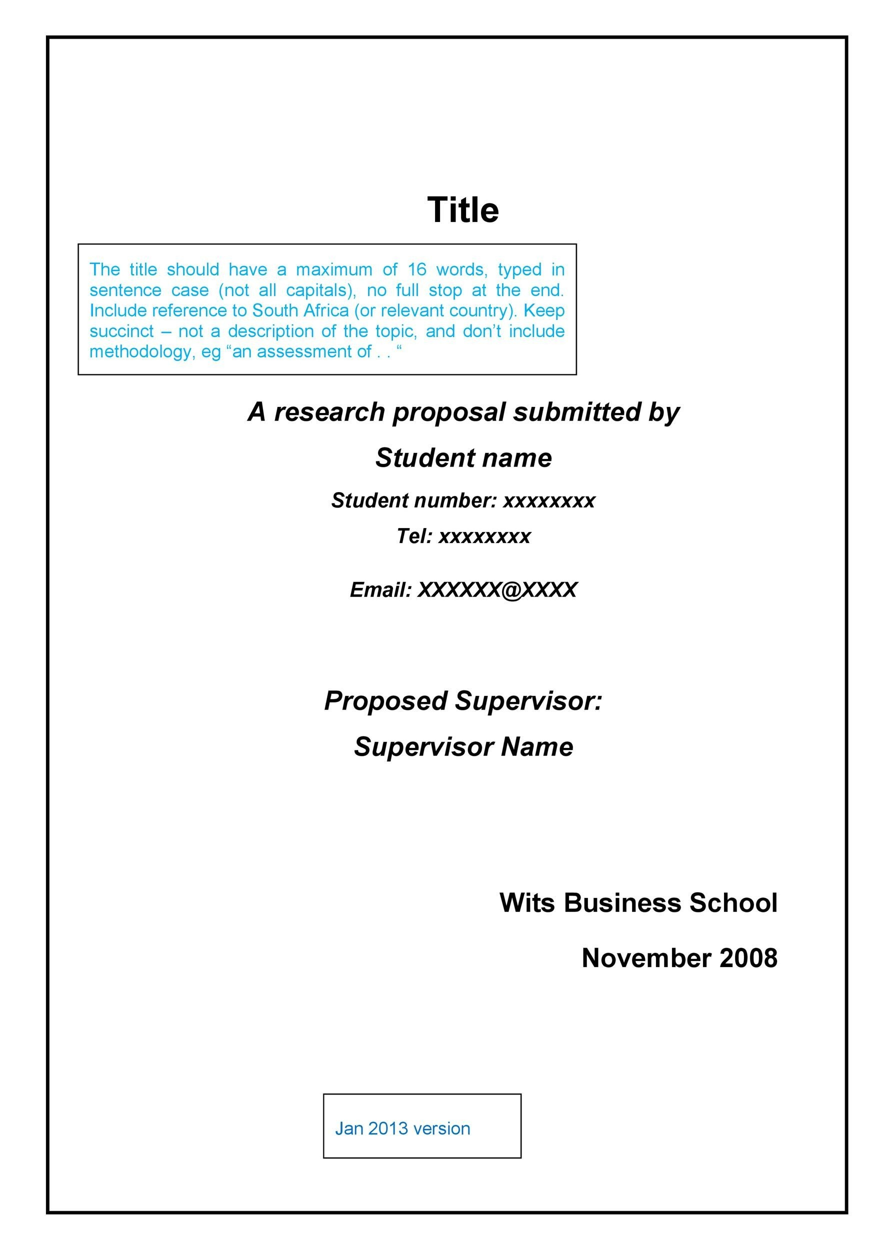 Free Research Proposal Template 34