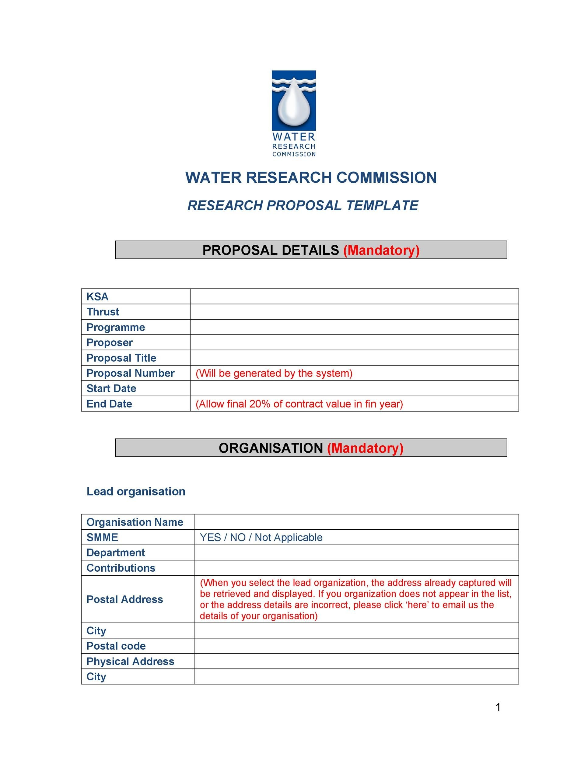 Choose from 40 Research Proposal Templates & Examples. 100 ...