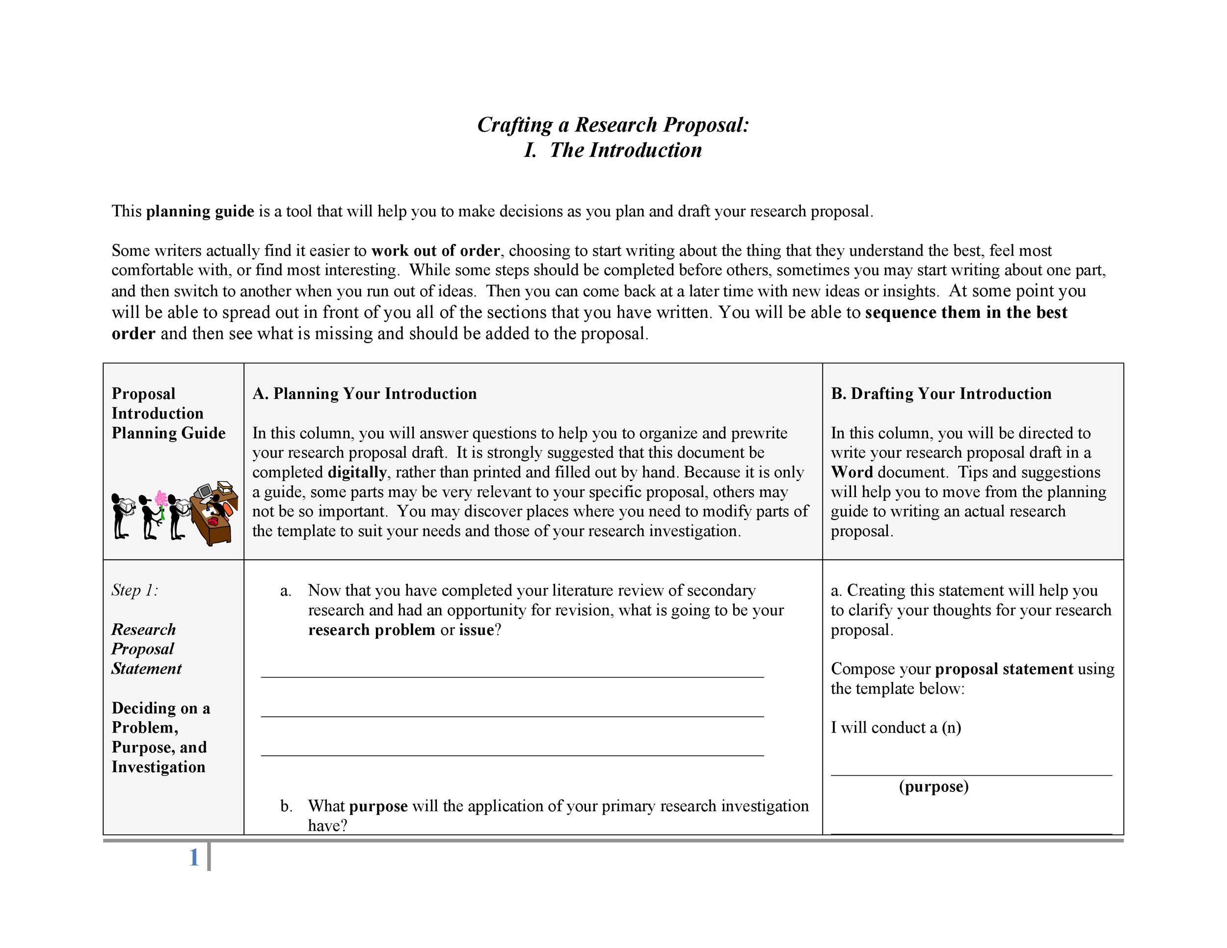 Free Research Proposal Template 37