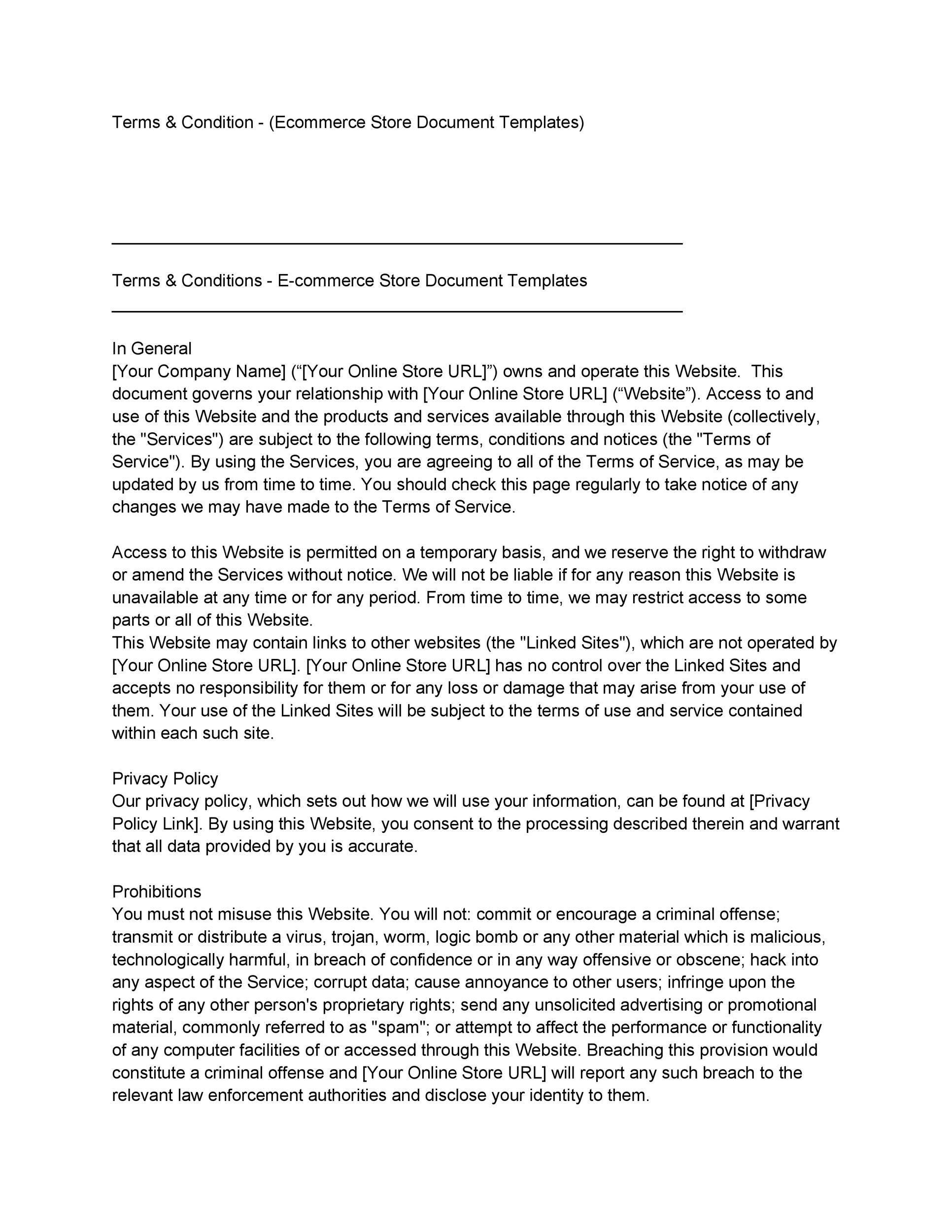Free terms and conditions template 06