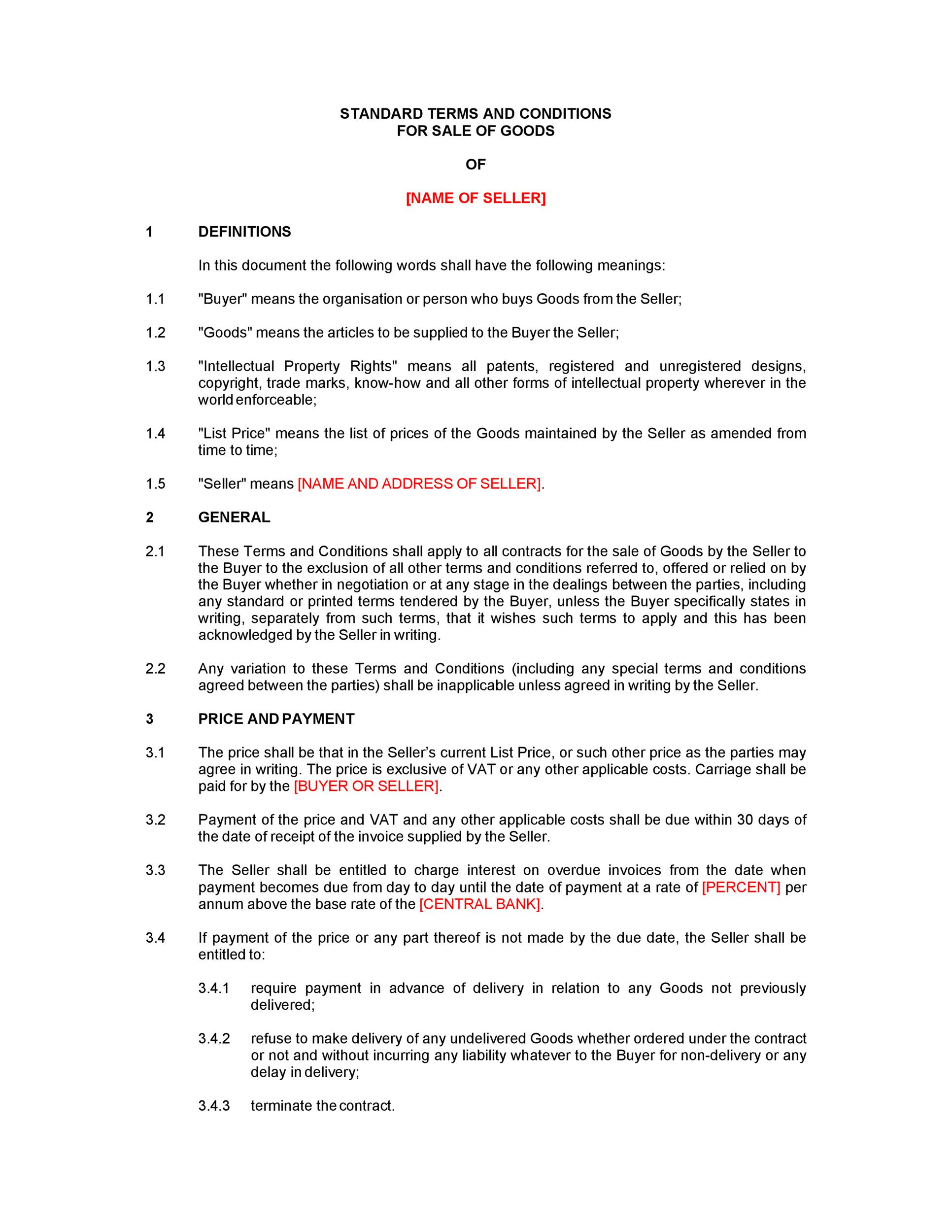 Free terms and conditions template 11