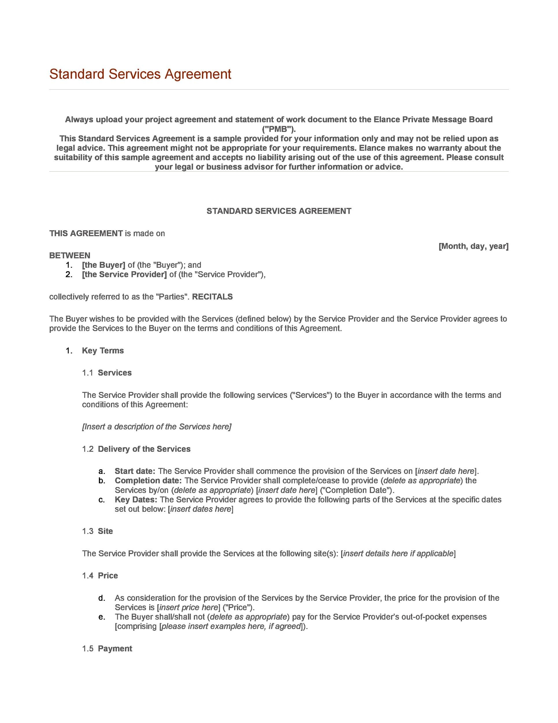 Free terms and conditions template 20