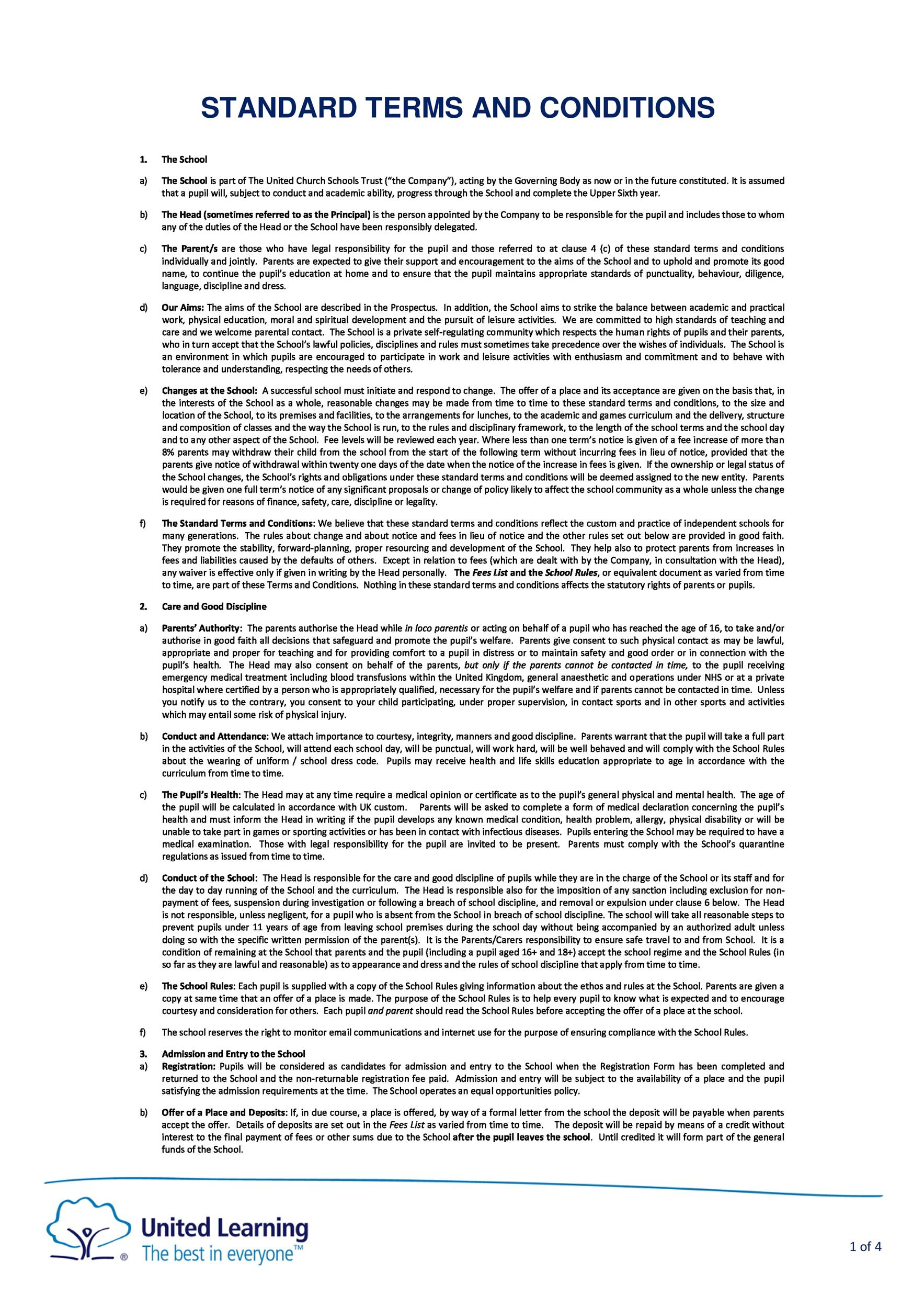 Free terms and conditions template 22