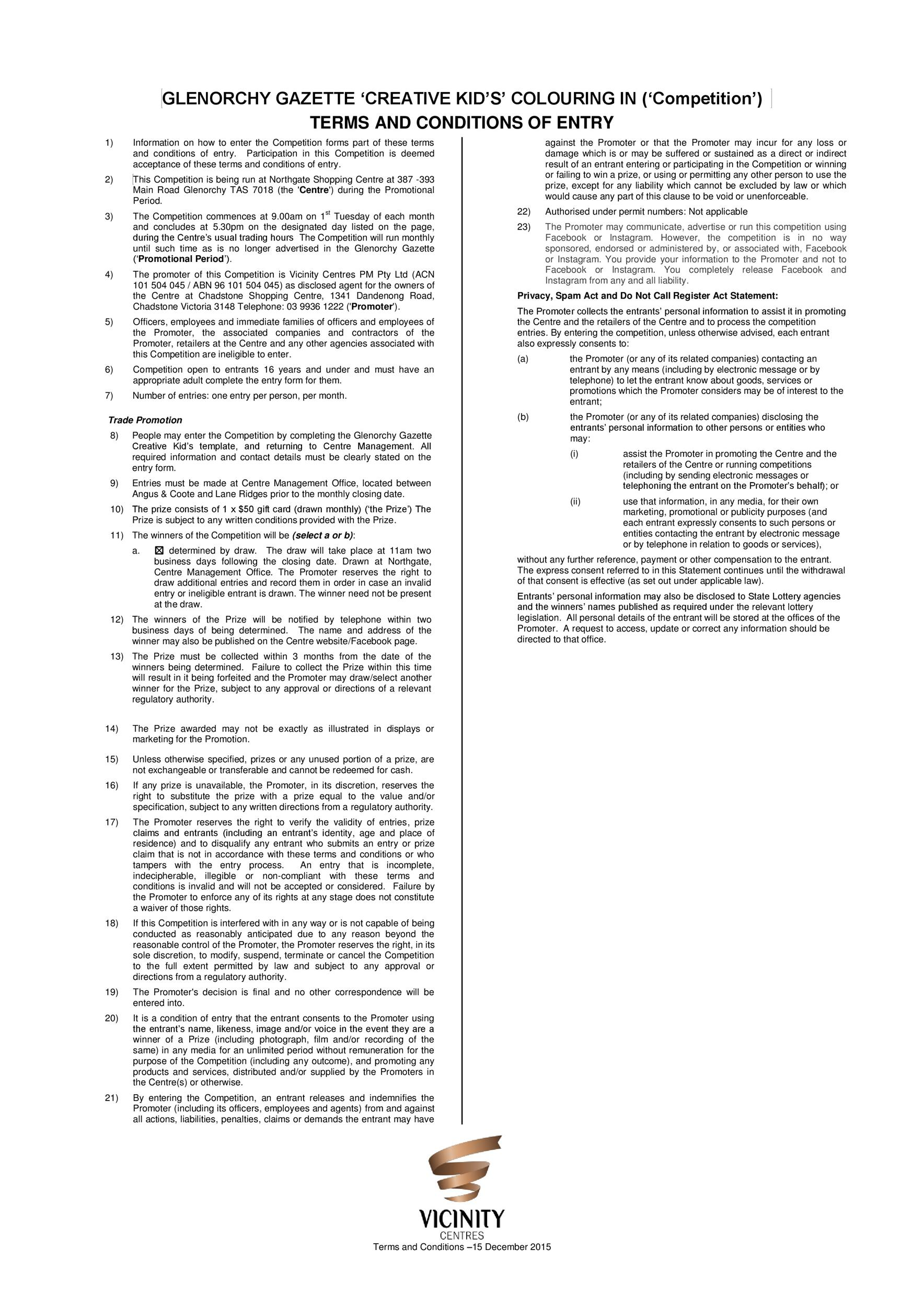 Free terms and conditions template 23