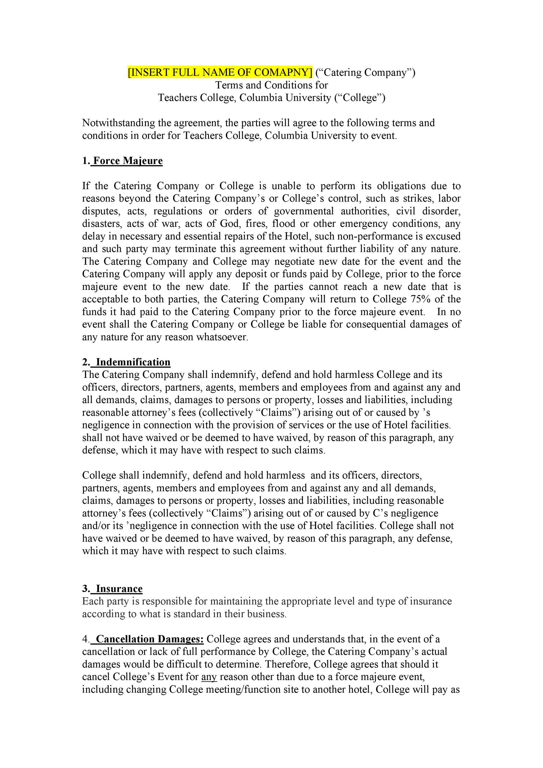 Free terms and conditions template 37