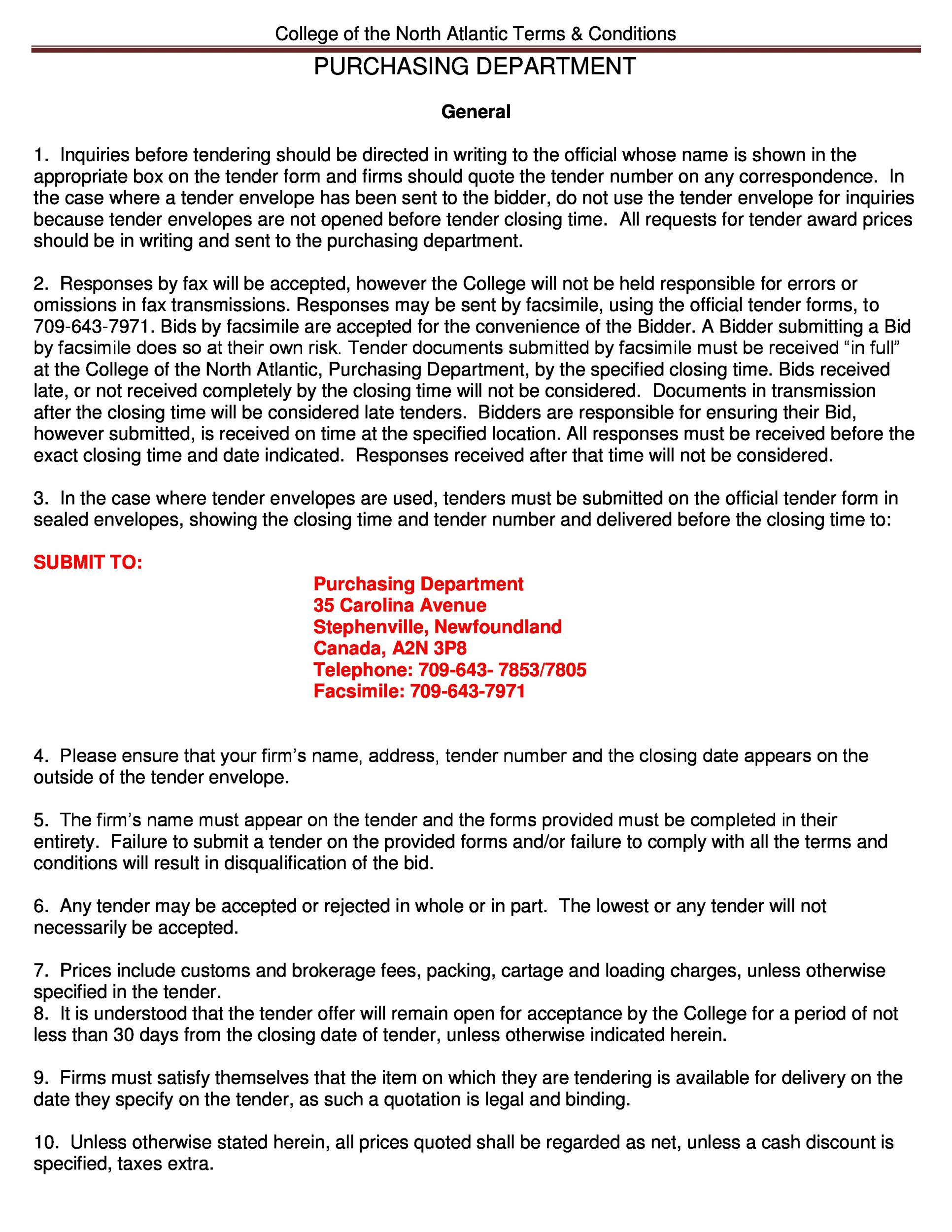 Free terms and conditions template 40