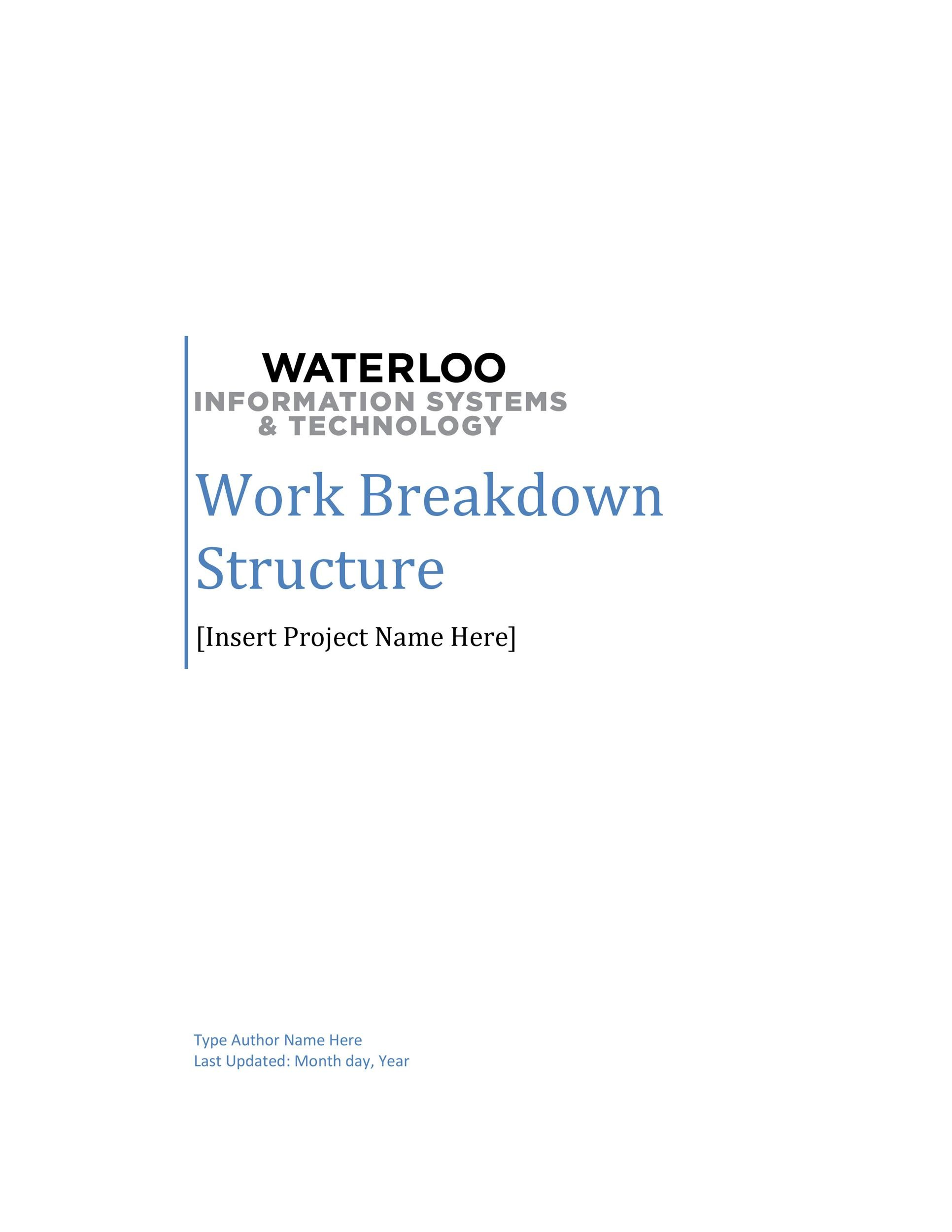 Free work breakdown structure template 06