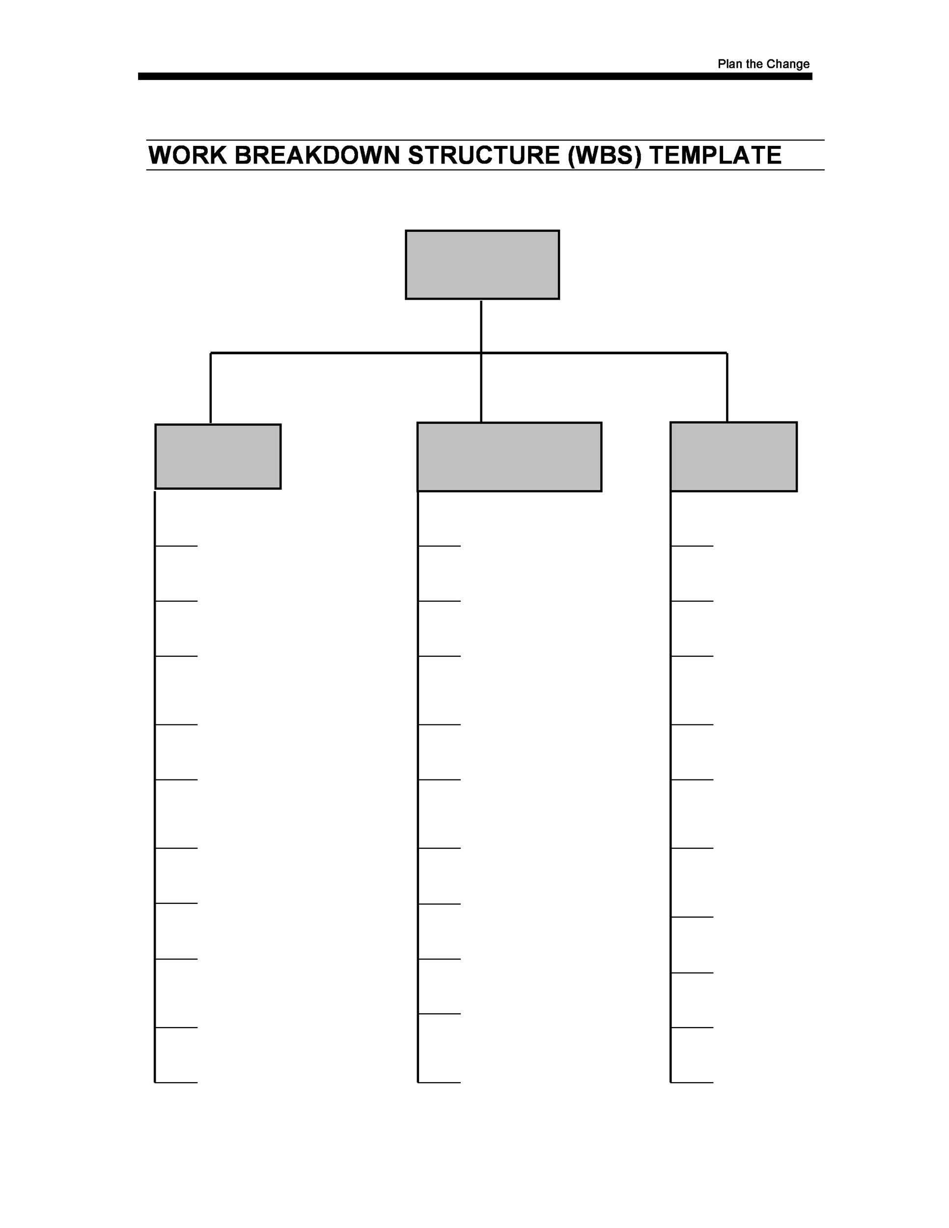 Free work breakdown structure template 14