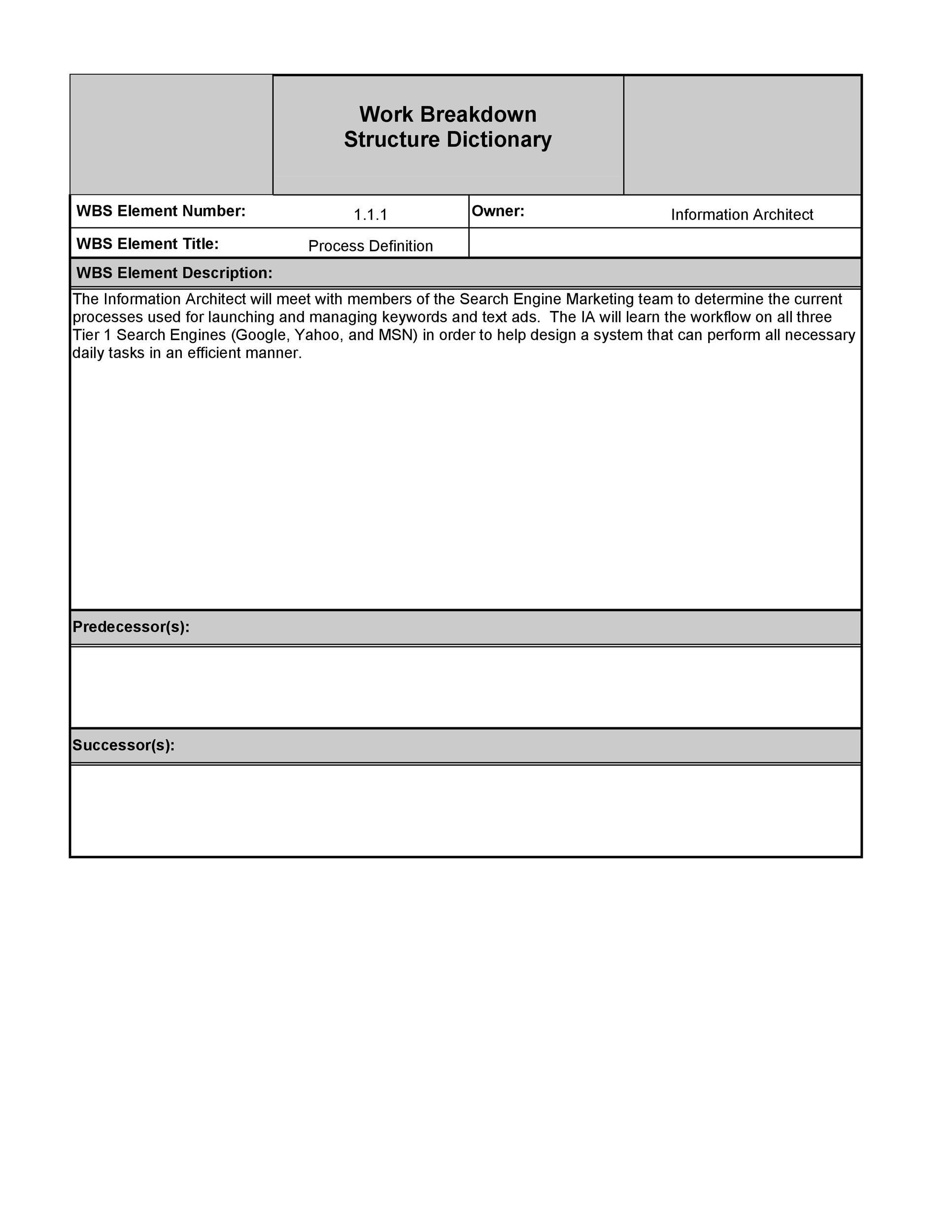 work breakdown structure template 28 template lab. Black Bedroom Furniture Sets. Home Design Ideas