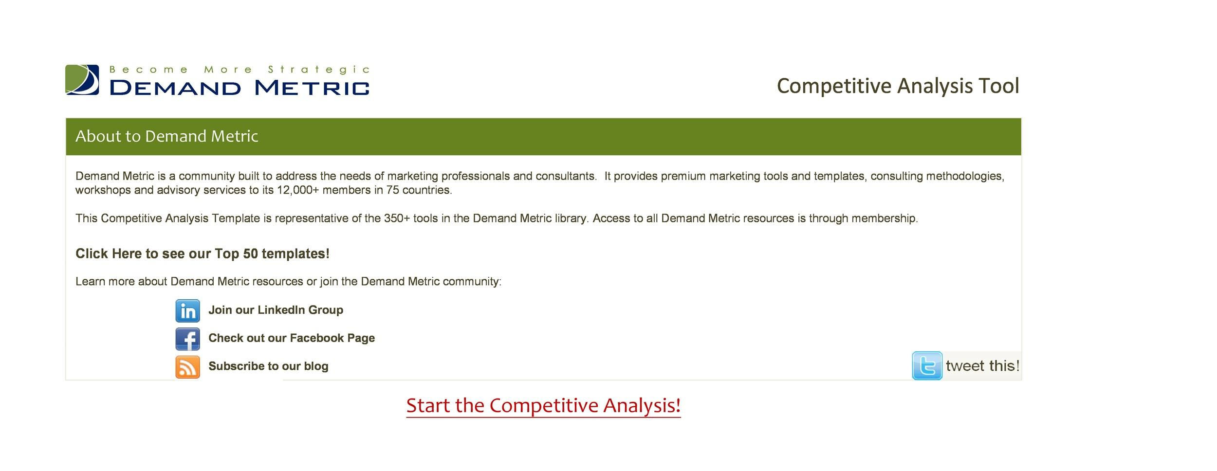Free Competitive analysis template 24