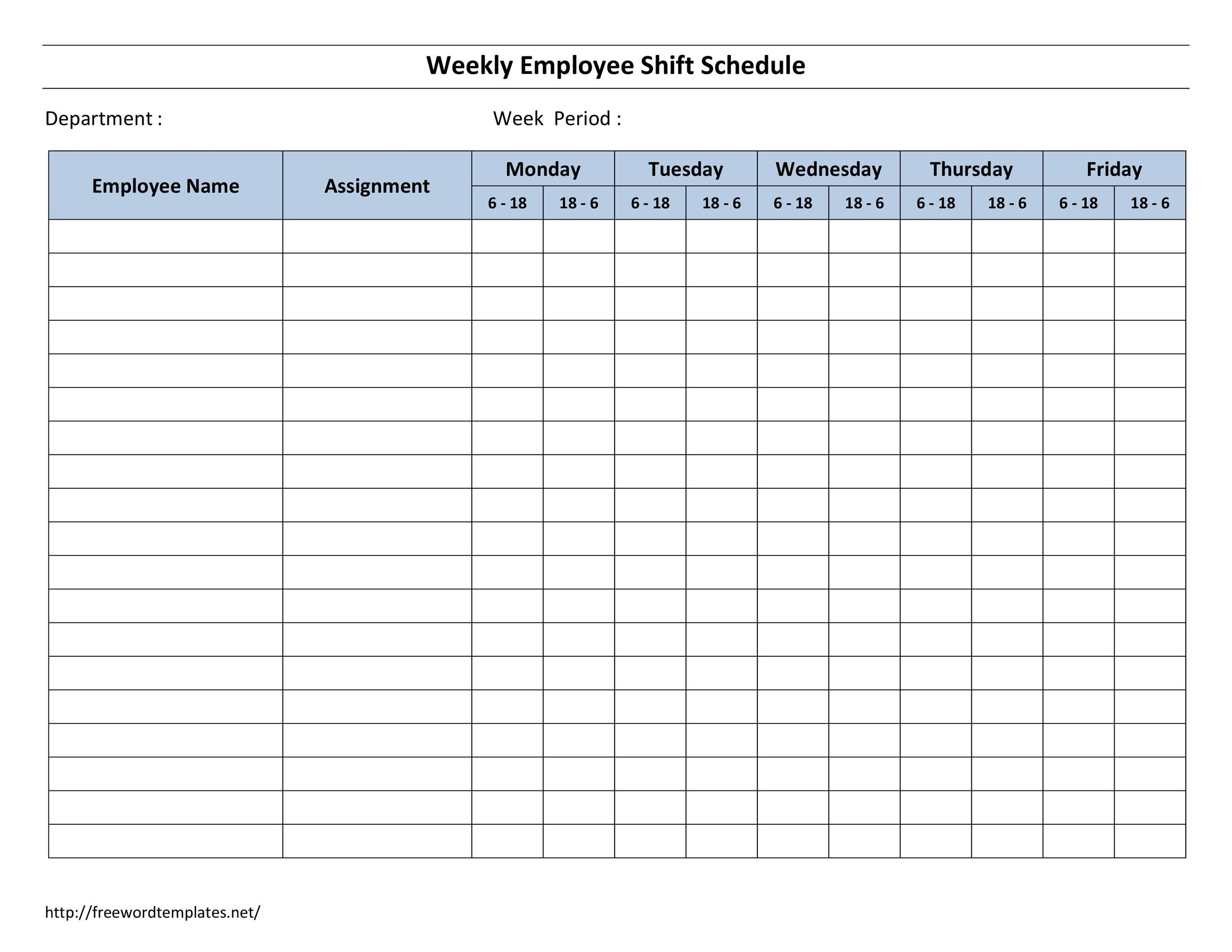 Free Dupont Schedule Template 10