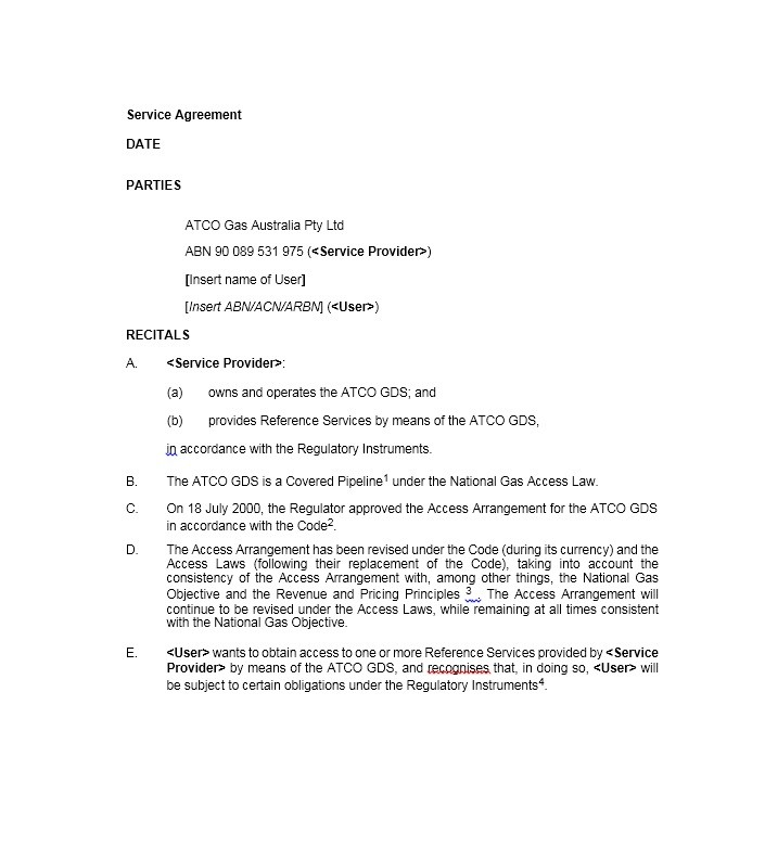 Free Service Agreement Template 03
