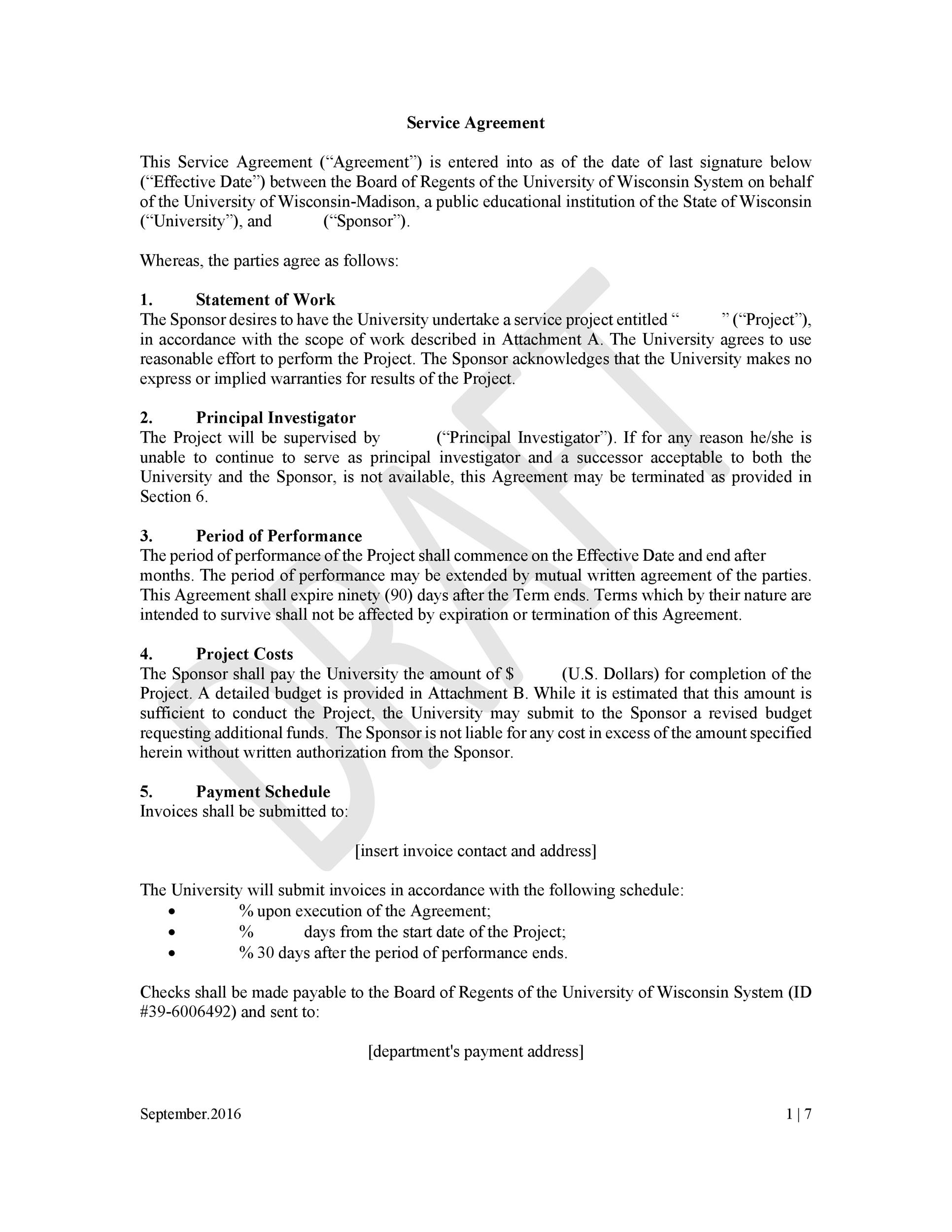 Free Service Agreement Template 04