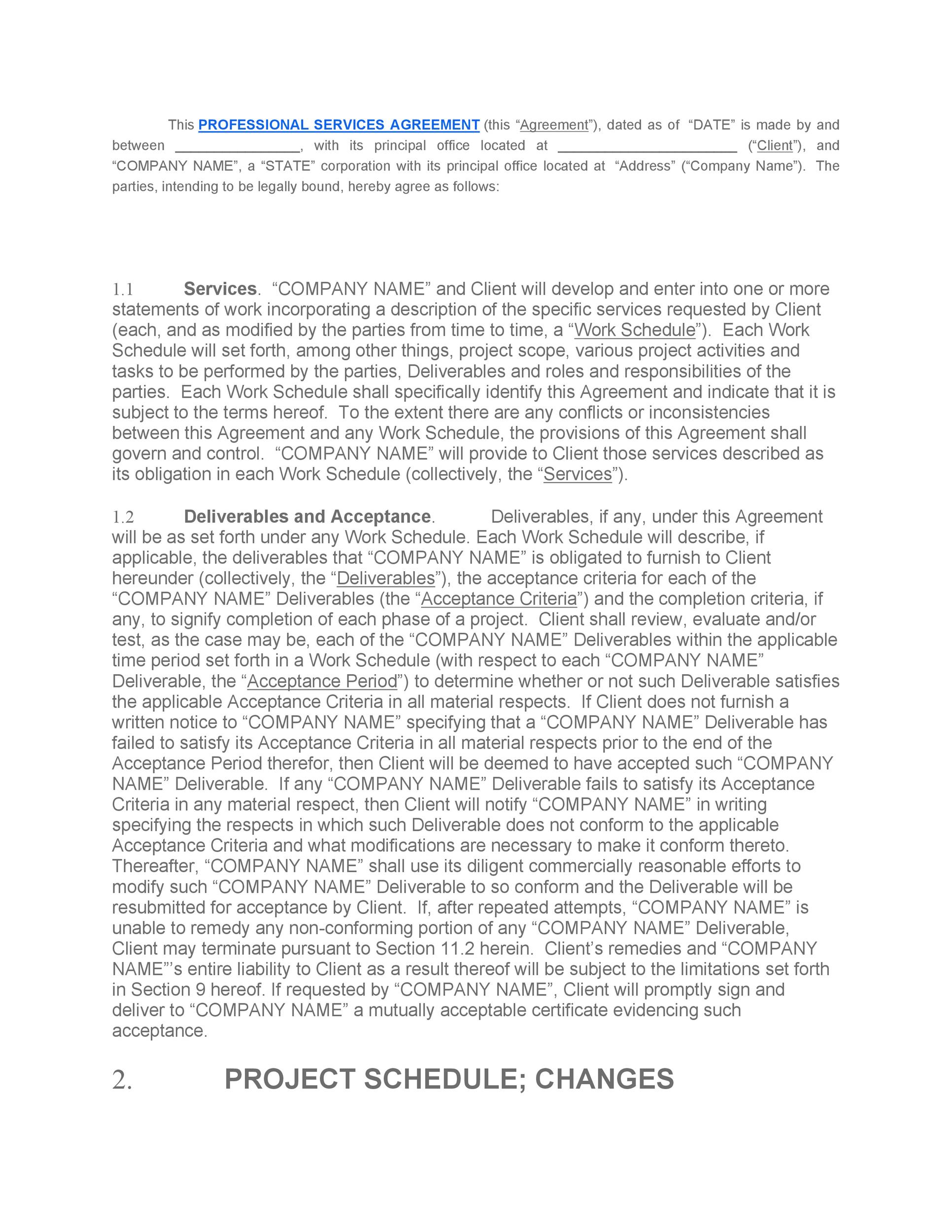 Free Service Agreement Template 05