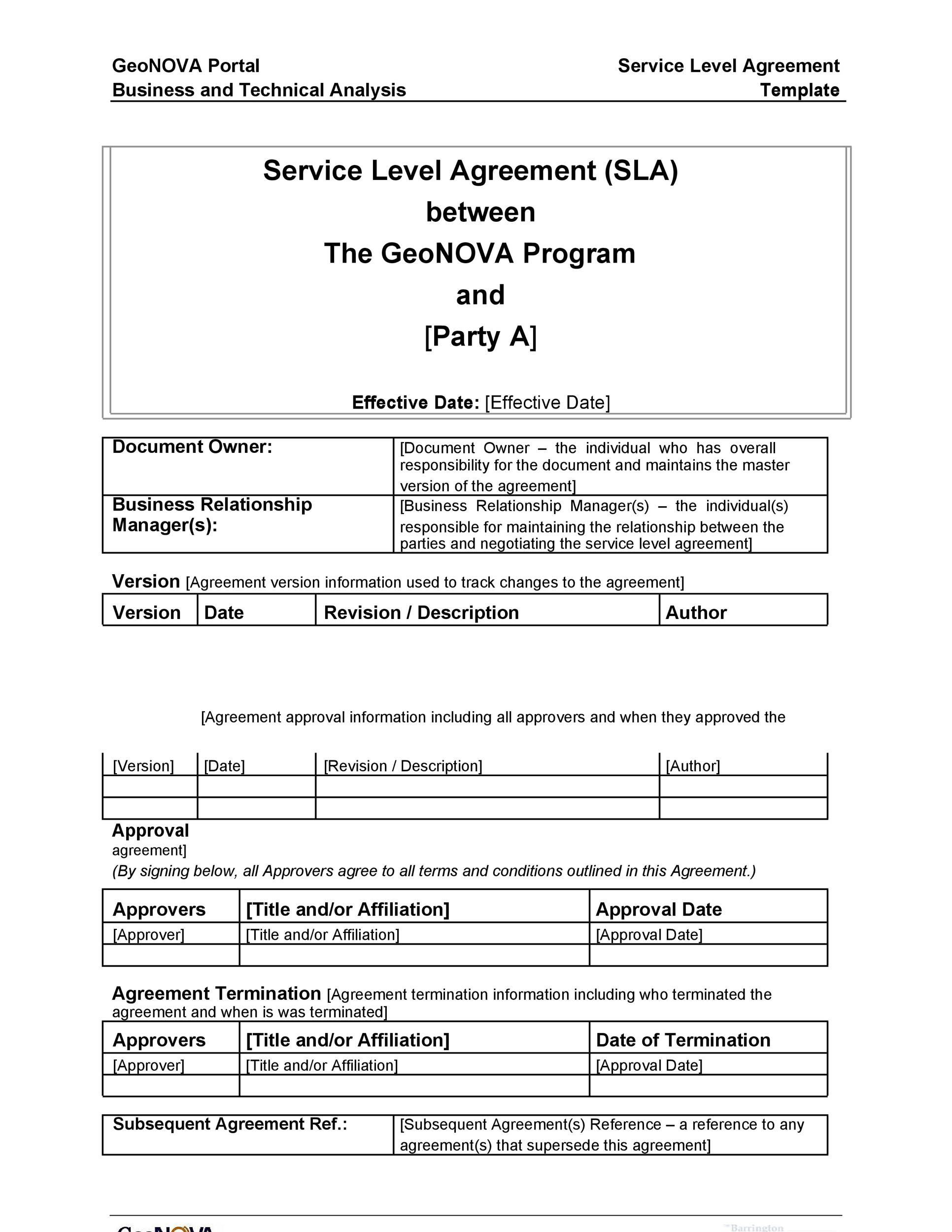 Printable Service Agreement Template 06