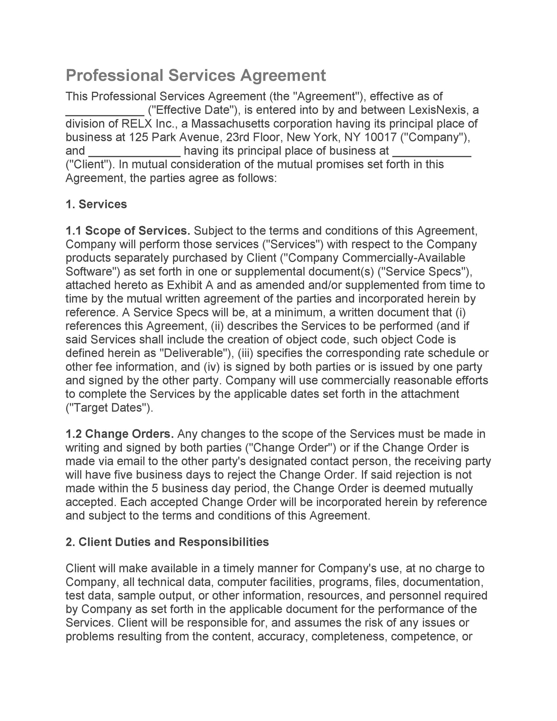 Free Service Agreement Template 07