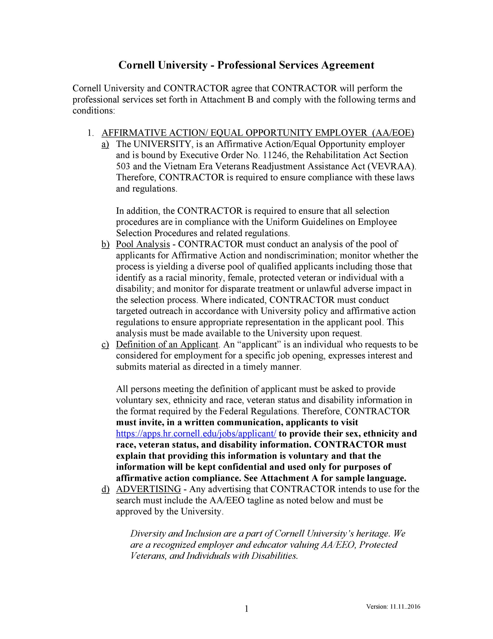 Free Service Agreement Template 12