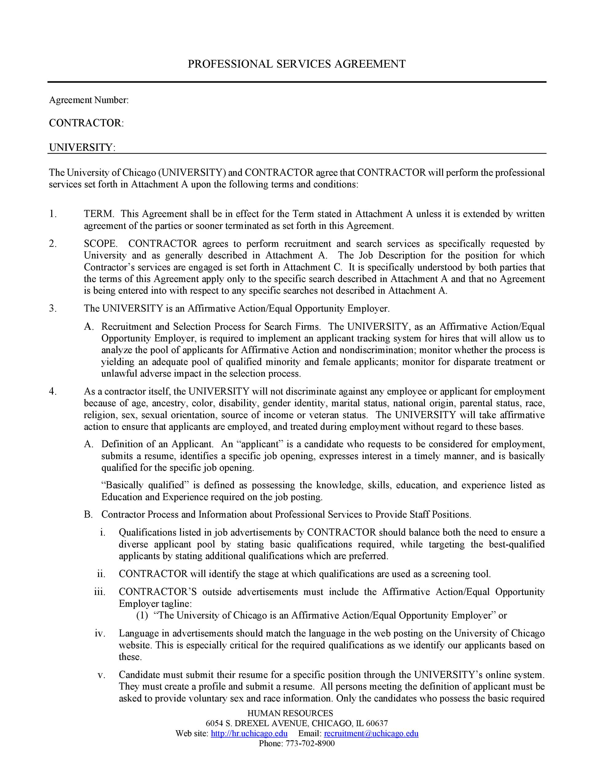 Free Service Agreement Template 17