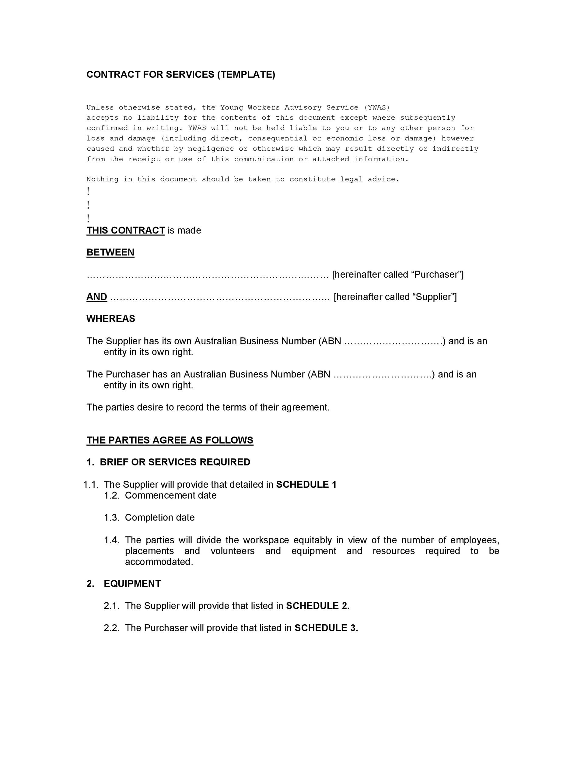 Free Service Agreement Template 19