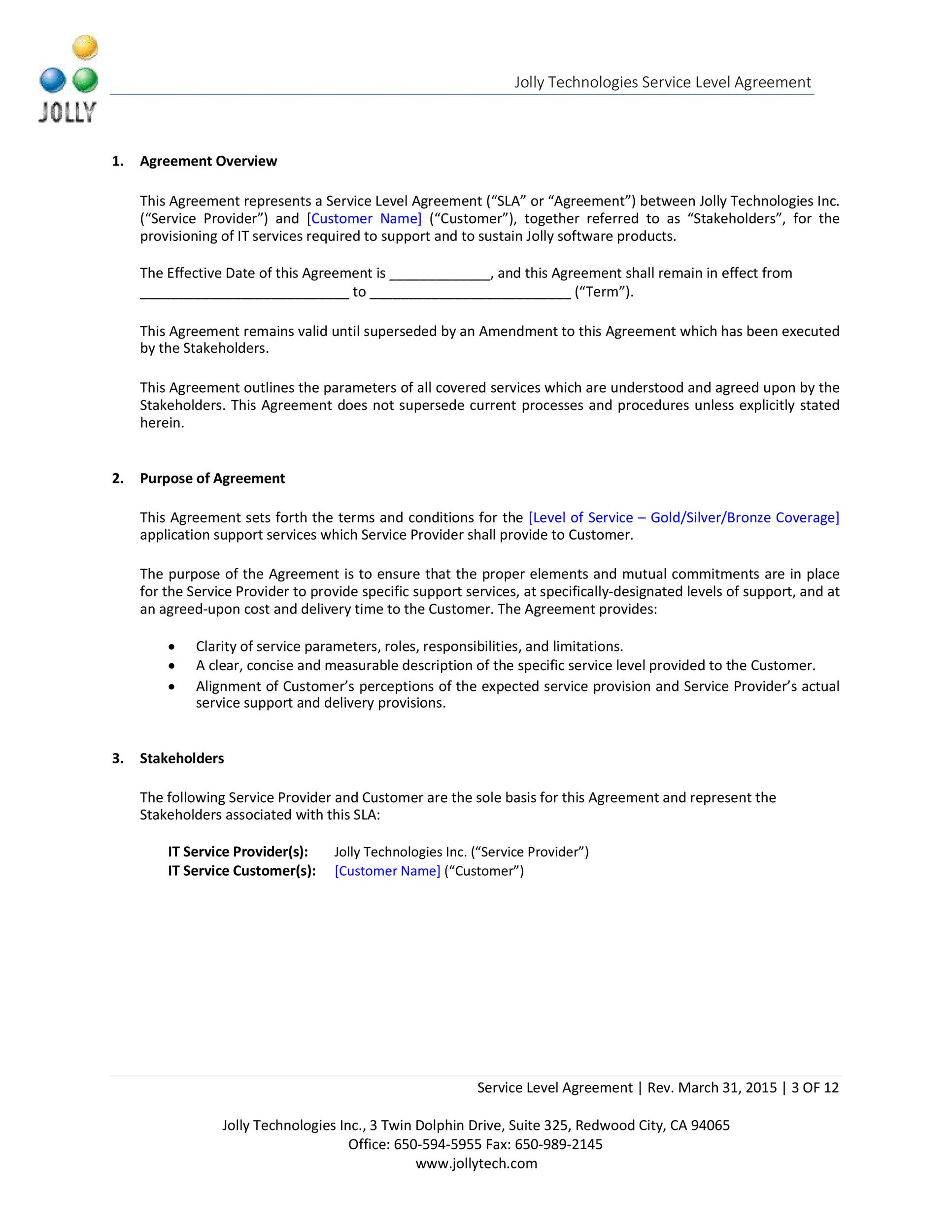 Free Service Agreement Template 20