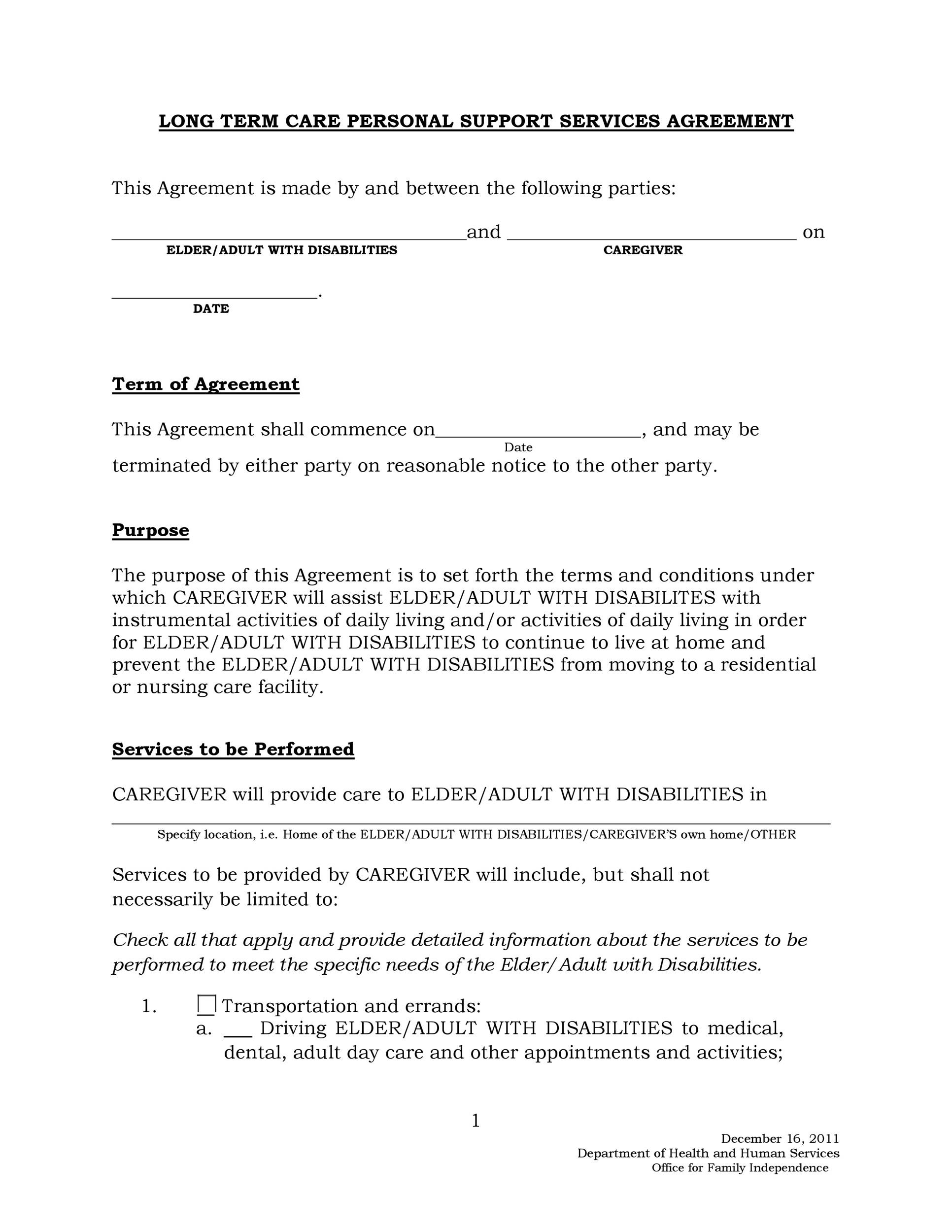 Free Service Agreement Template 21