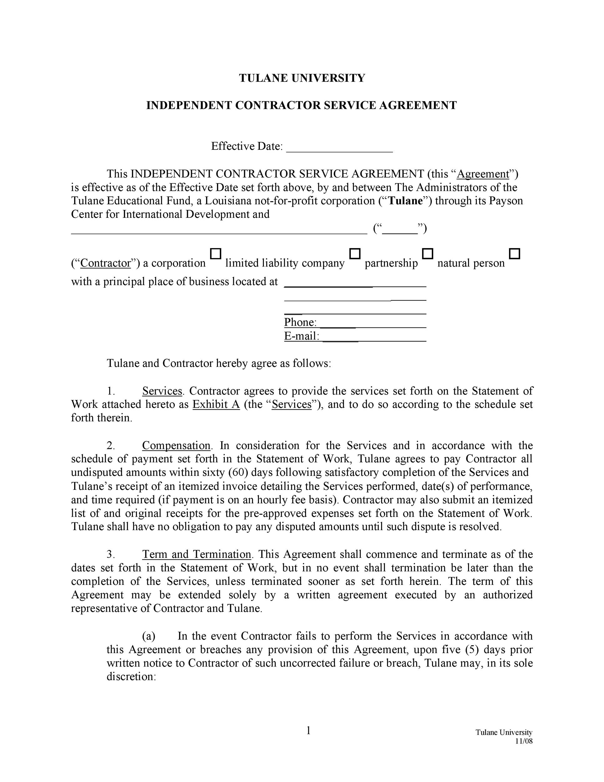 Free Service Agreement Template 22