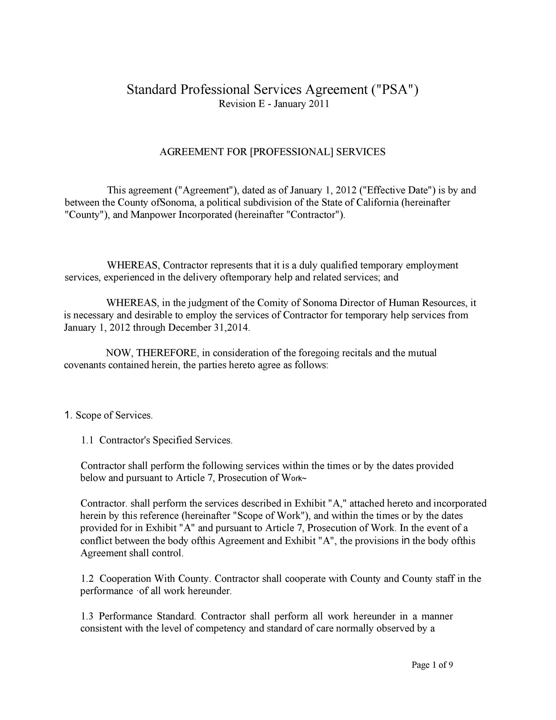 Free Service Agreement Template 23